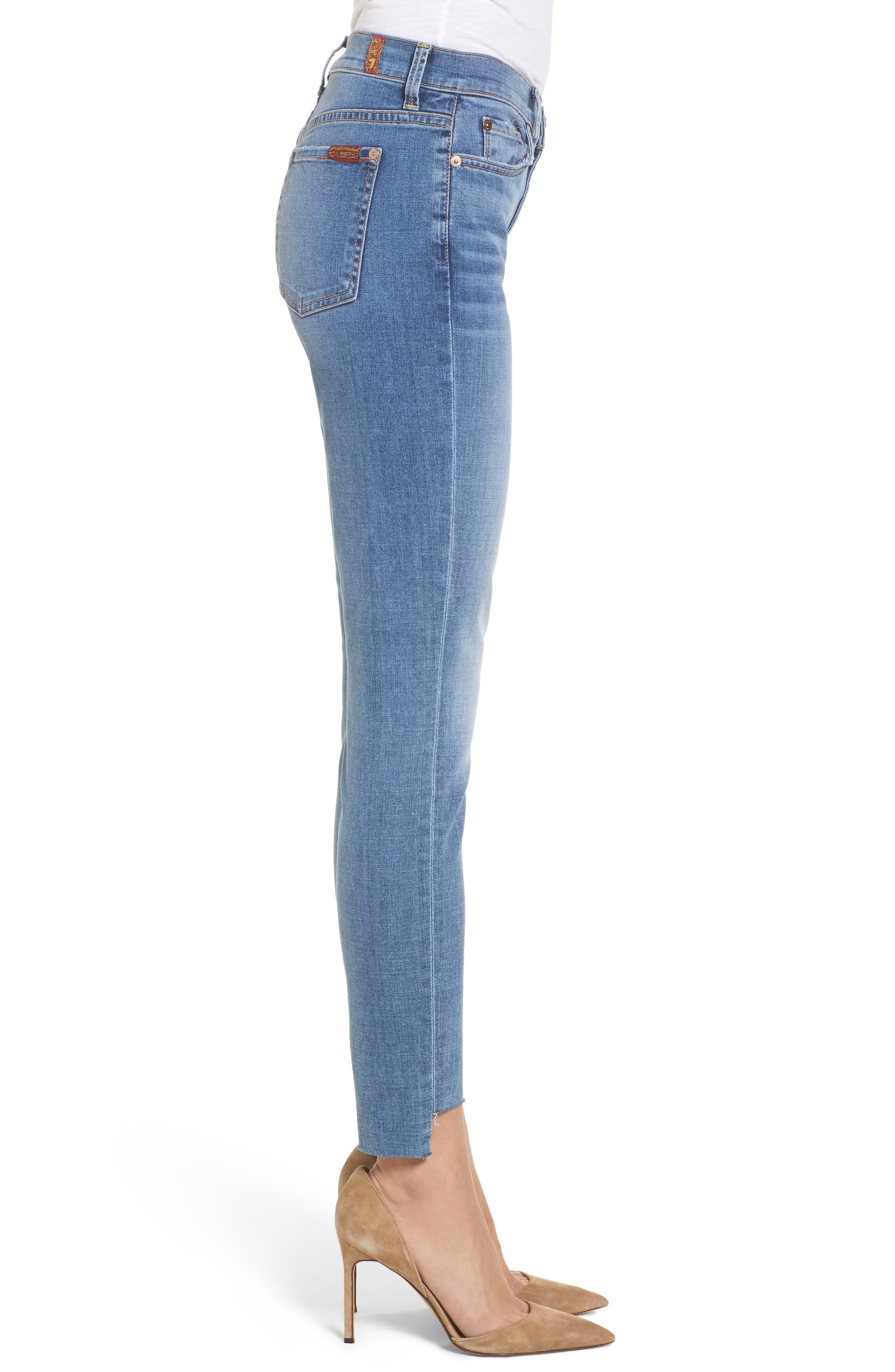 Step Hem Ankle Skinny Jeans,                             Alternate thumbnail 3, color,                             400