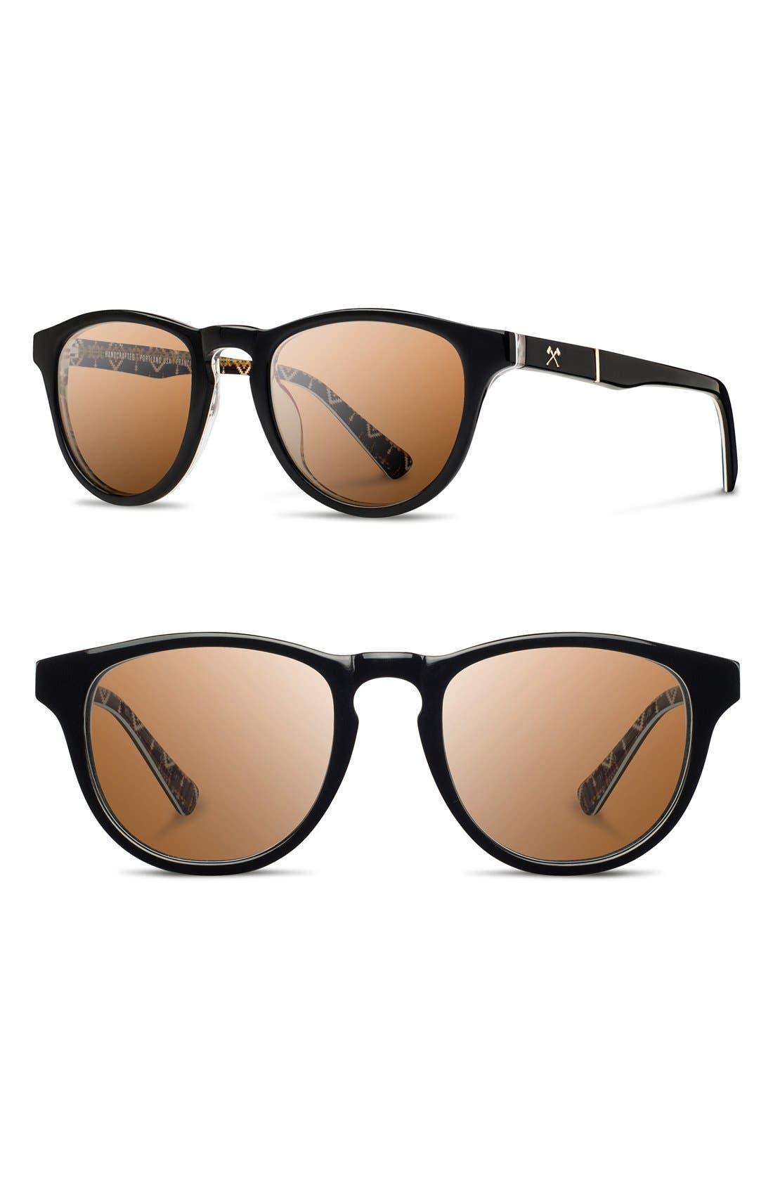 'Francis - Pendleton' 48mm Polarized Sunglasses,                             Main thumbnail 1, color,                             001