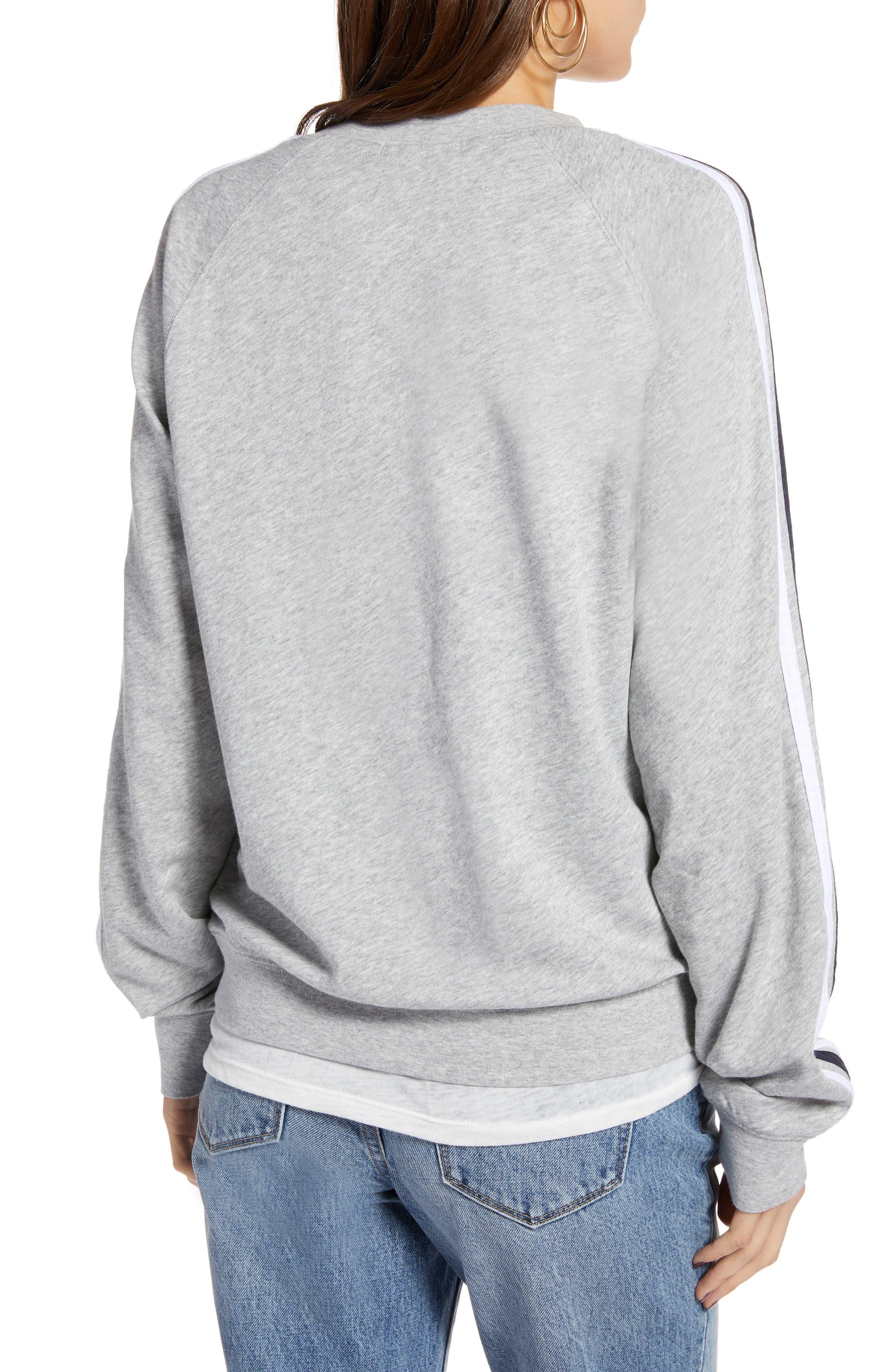Stripe Raglan Sleeve Sweatshirt,                             Alternate thumbnail 2, color,                             030