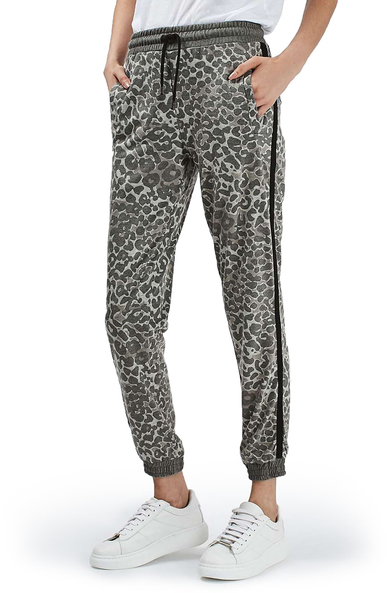Leopard Print Jogger Pants, Main, color, 250
