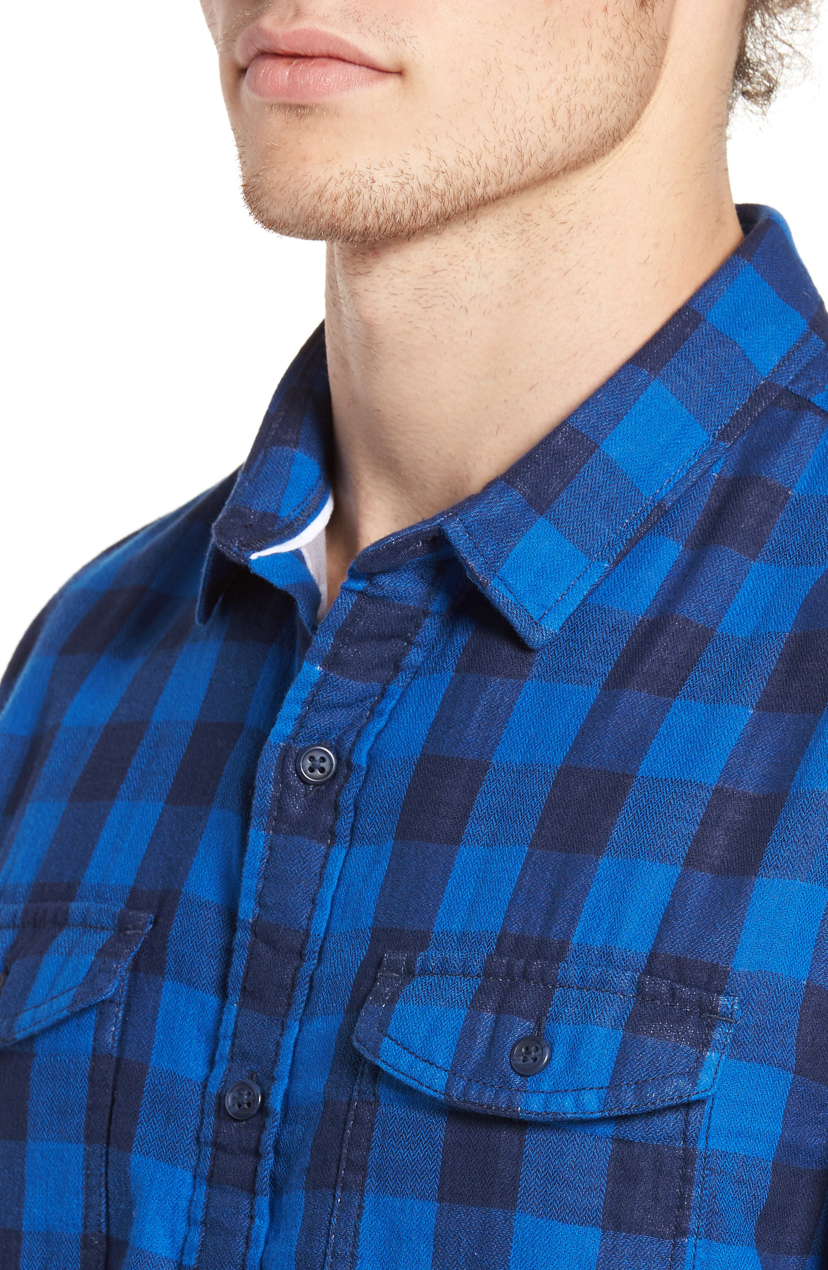 Duofold Check Sport Shirt,                             Alternate thumbnail 4, color,                             420