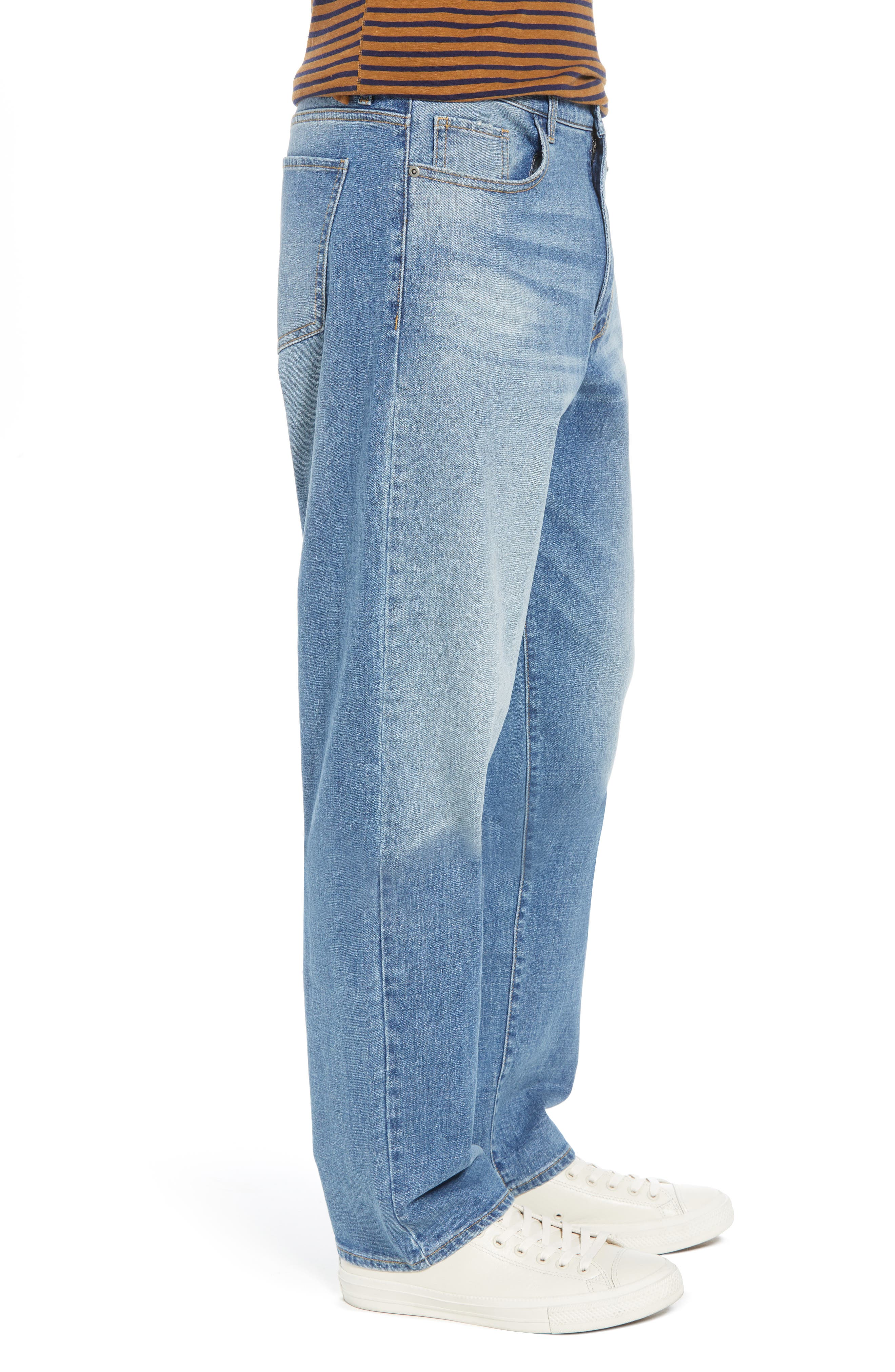 Straight Leg Jeans,                             Alternate thumbnail 3, color,                             BLUE EVAN WASH