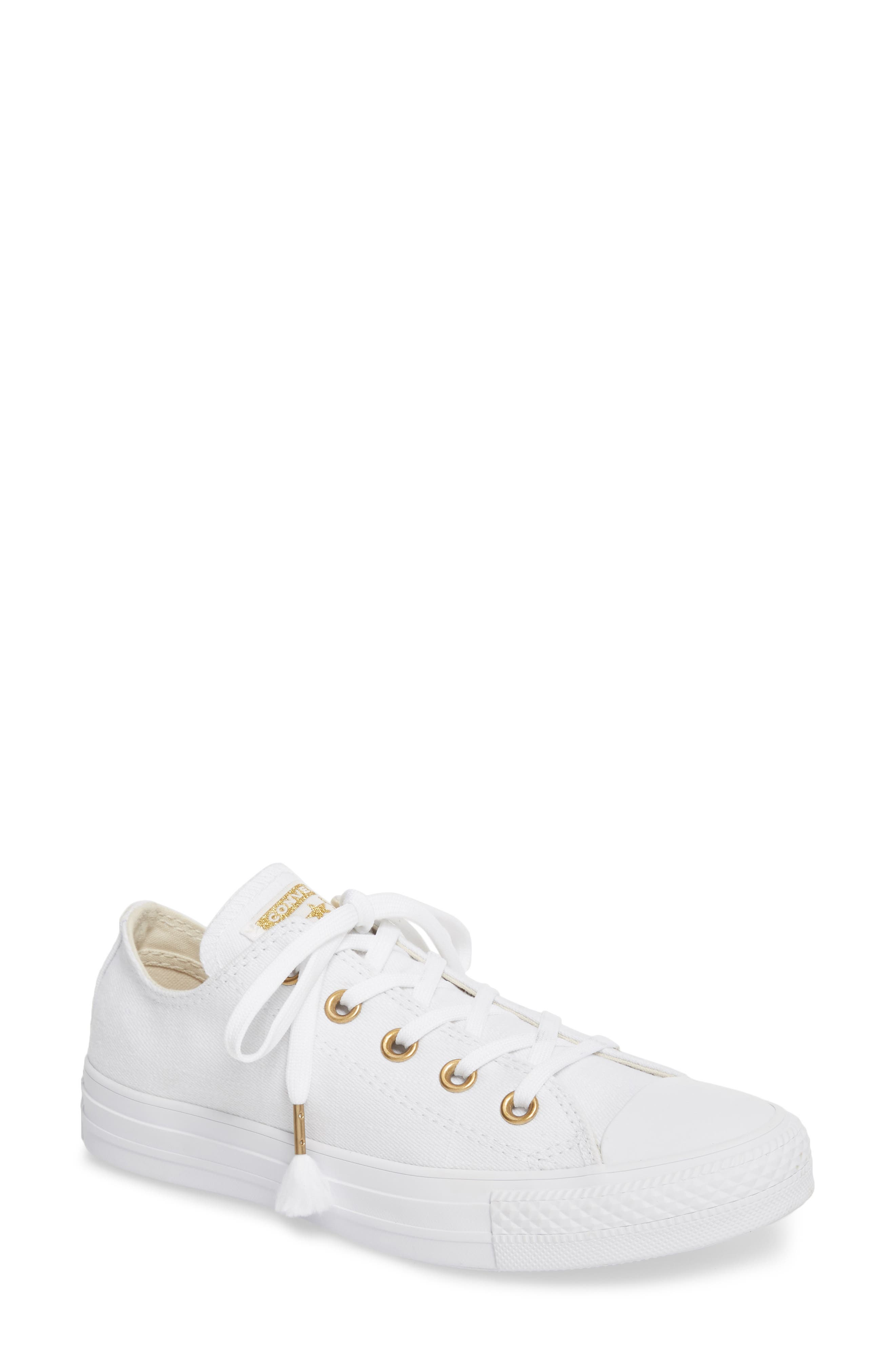 Chuck Taylor<sup>®</sup> All Star<sup>®</sup> Washed Linen Low Top Sneaker,                             Main thumbnail 2, color,