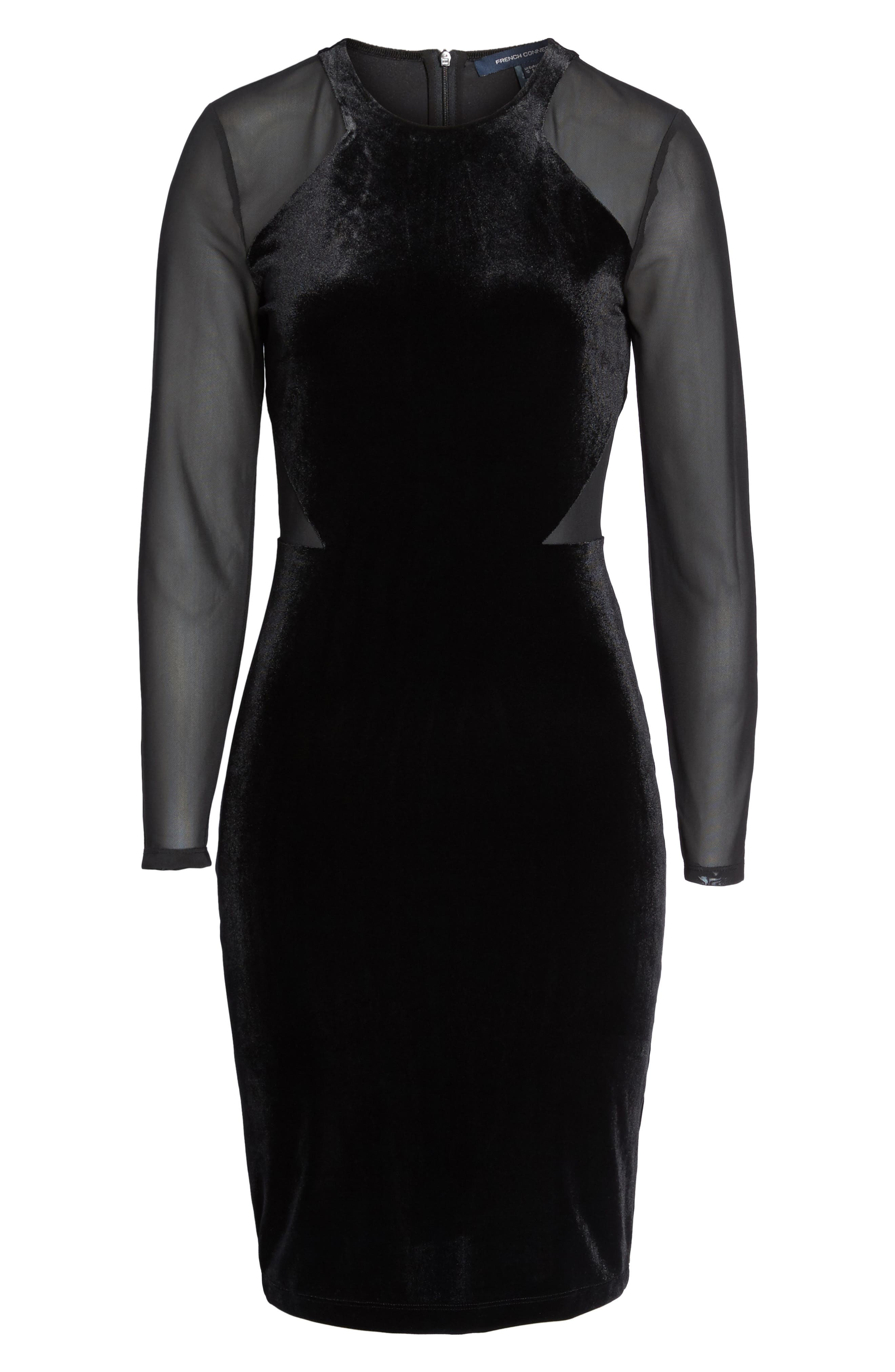 Aurore Body-Con Dress,                             Alternate thumbnail 6, color,                             001