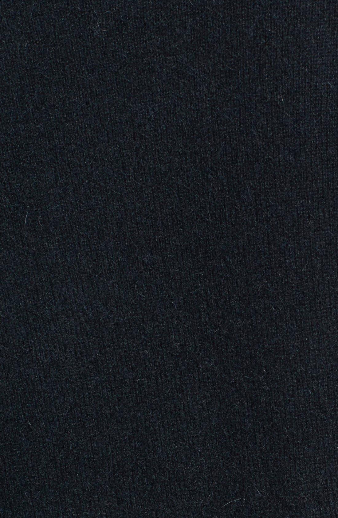 Embellished Shoulder Cashmere Sweater,                             Alternate thumbnail 4, color,                             001