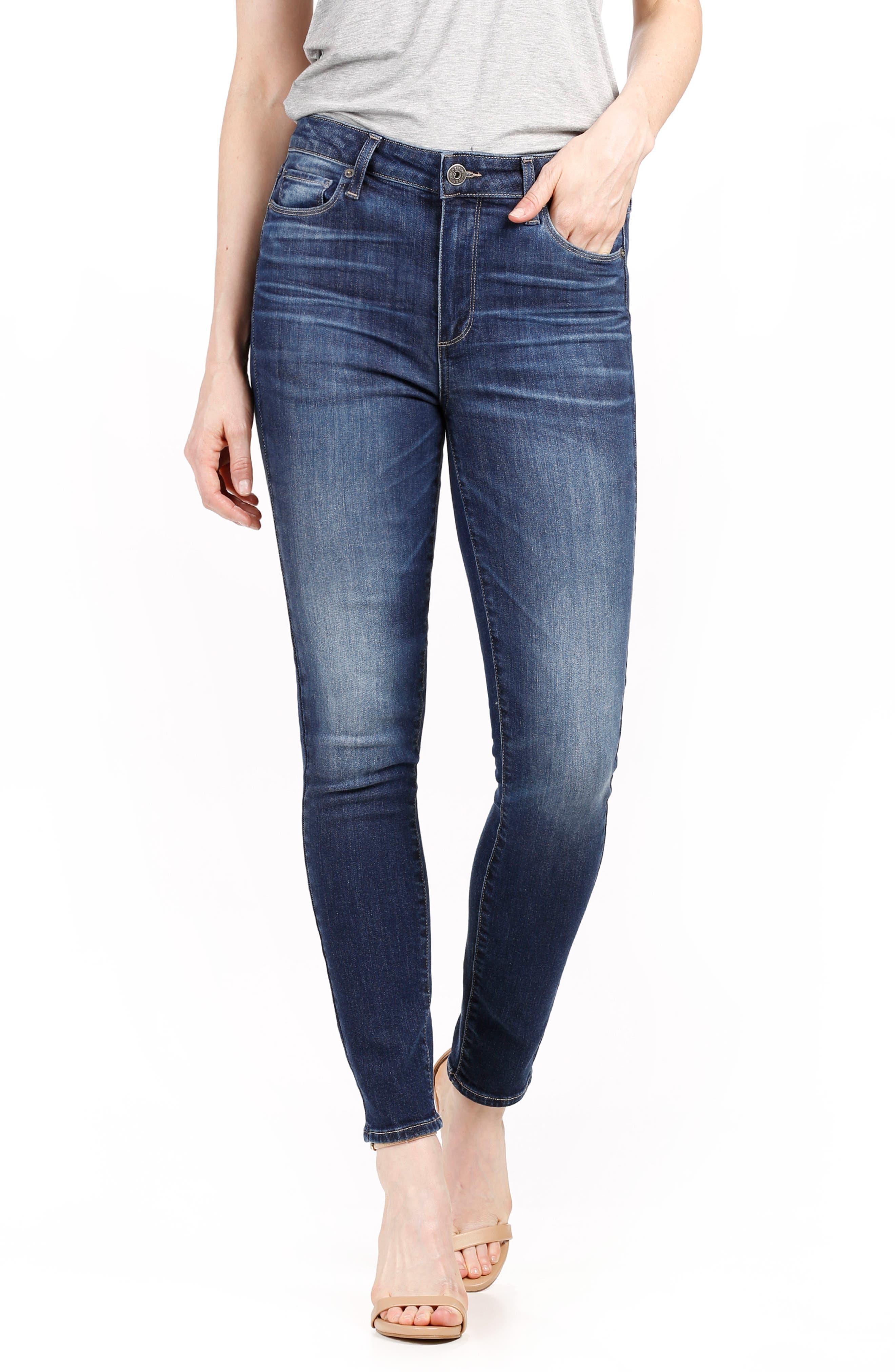 Hoxton High Waist Ankle Skinny Jeans,                             Main thumbnail 1, color,