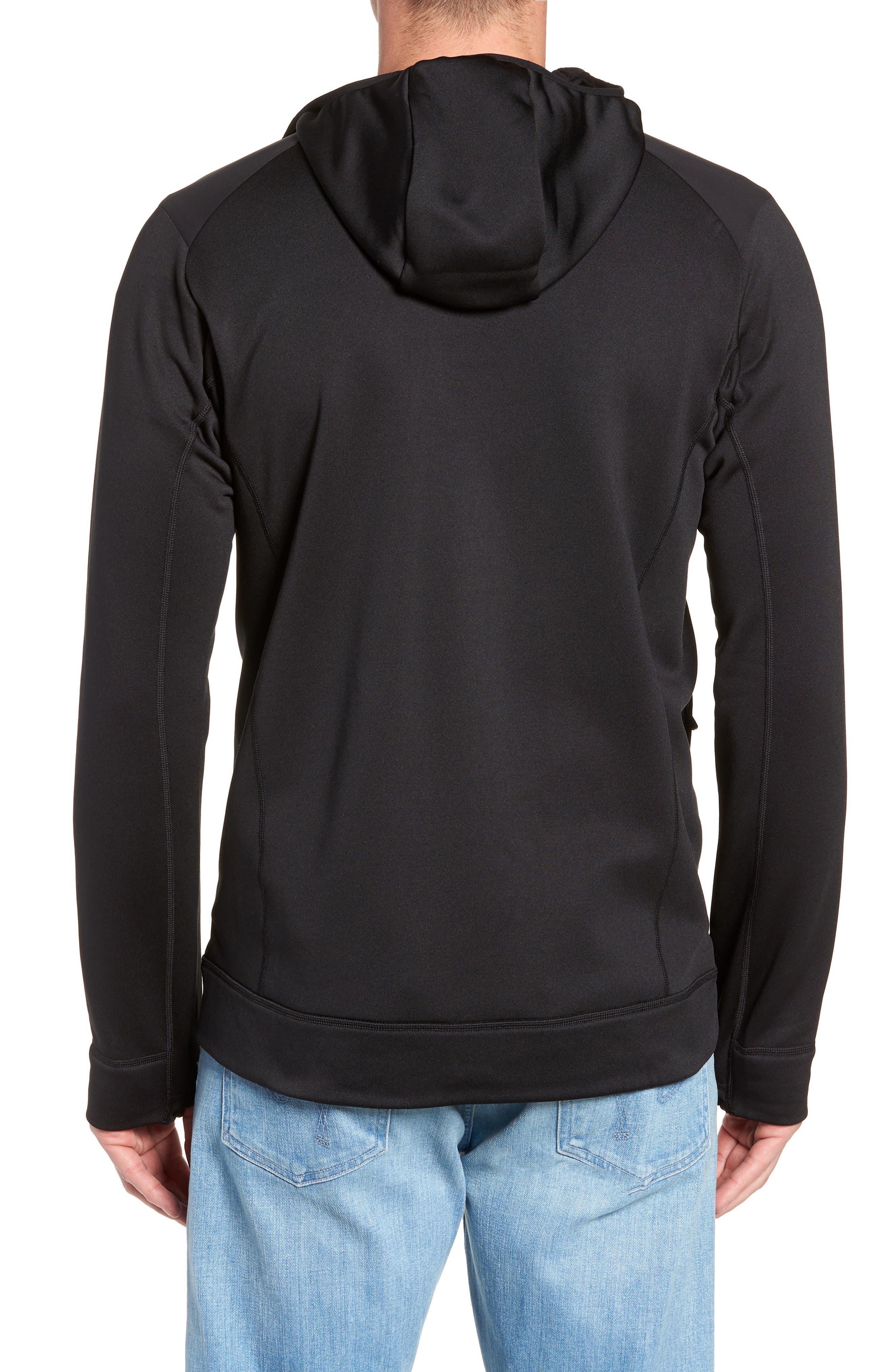Crosstek Hybrid Hooded Jacket,                             Alternate thumbnail 2, color,                             BLACK