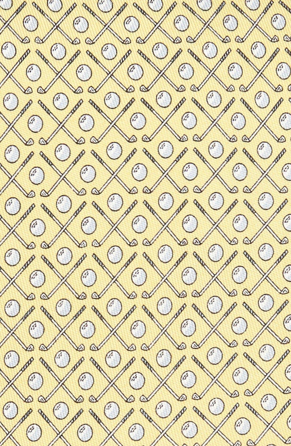 Golf Clubs Silk Tie,                             Alternate thumbnail 8, color,