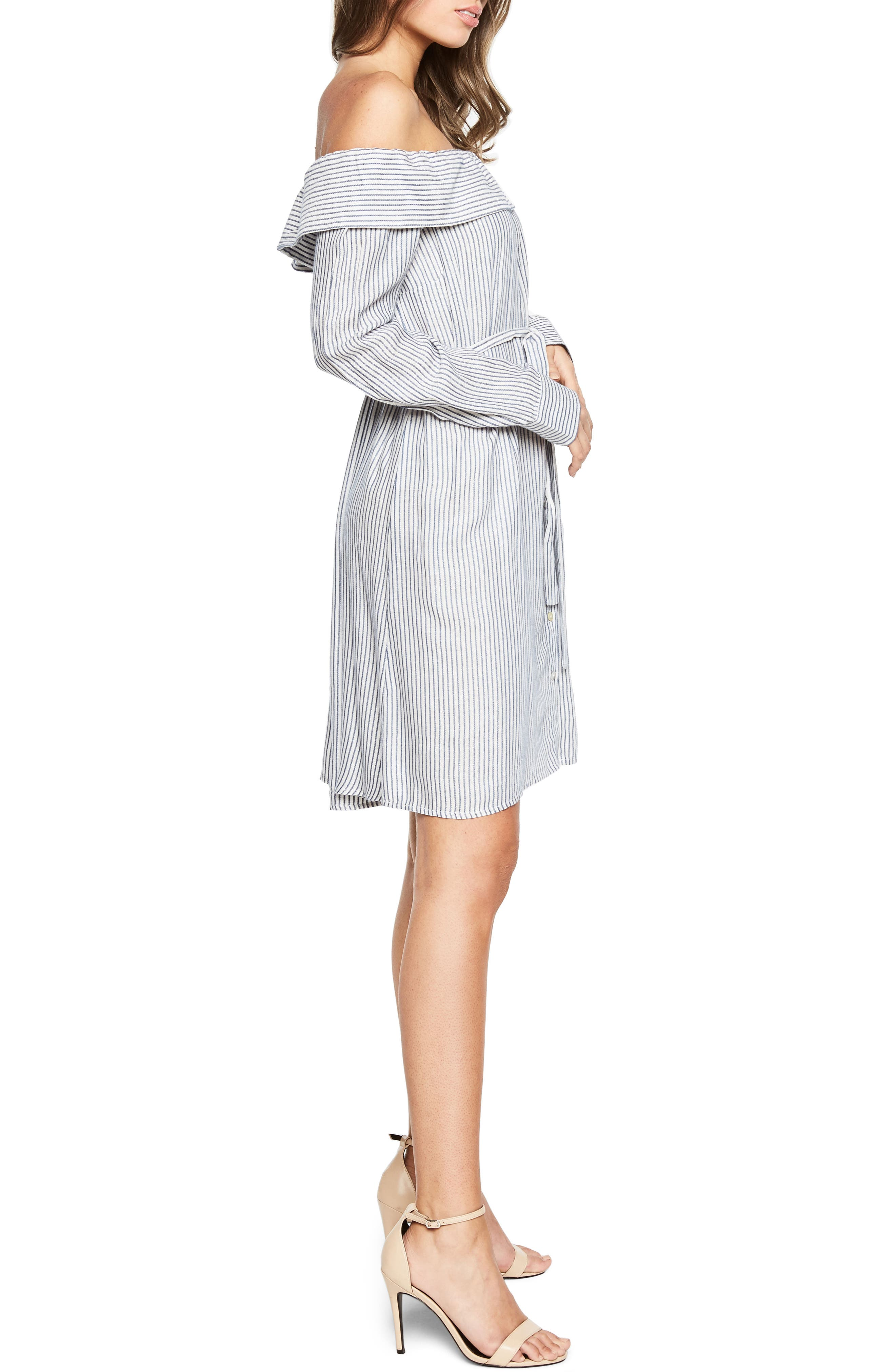 Sienna Off the Shoulder Shirtdress,                             Alternate thumbnail 3, color,                             486