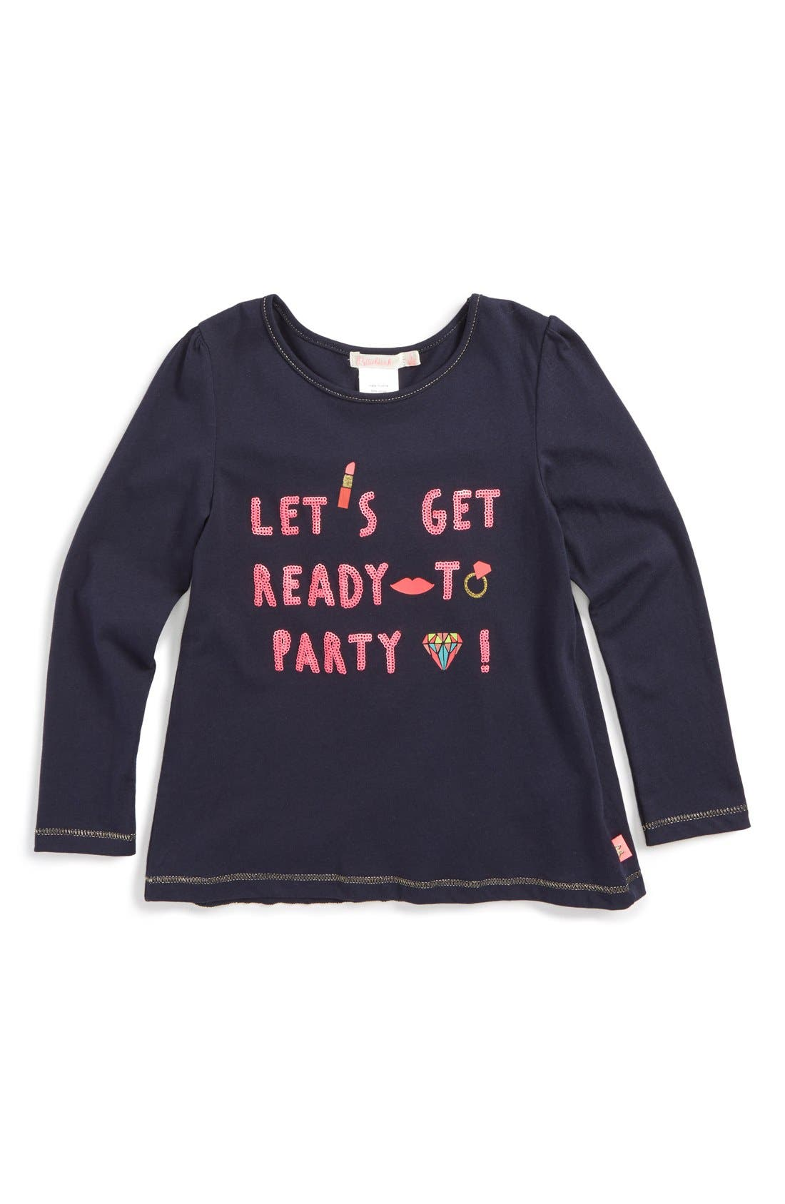 'Let's Get Ready to Party' Long Sleeve Tee,                             Main thumbnail 1, color,                             410
