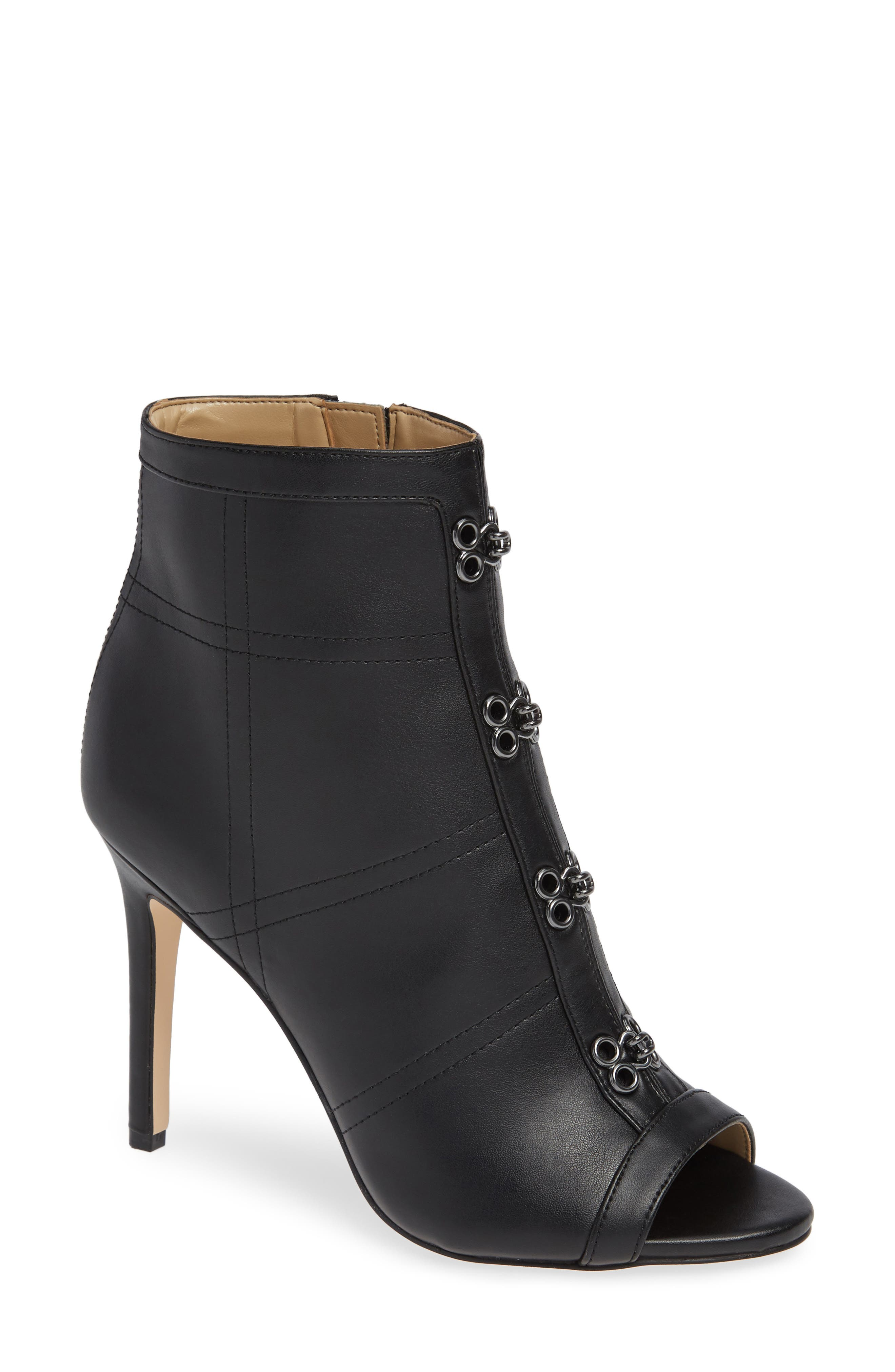 KATY PERRY,                             Open Toe Bootie,                             Main thumbnail 1, color,                             BLACK