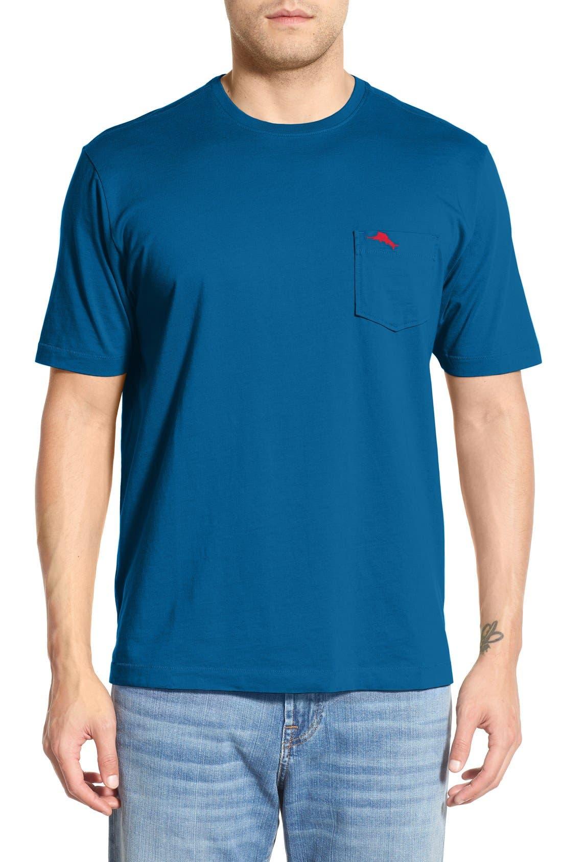 New Bali Sky Pima Cotton Pocket T-Shirt,                             Main thumbnail 27, color,