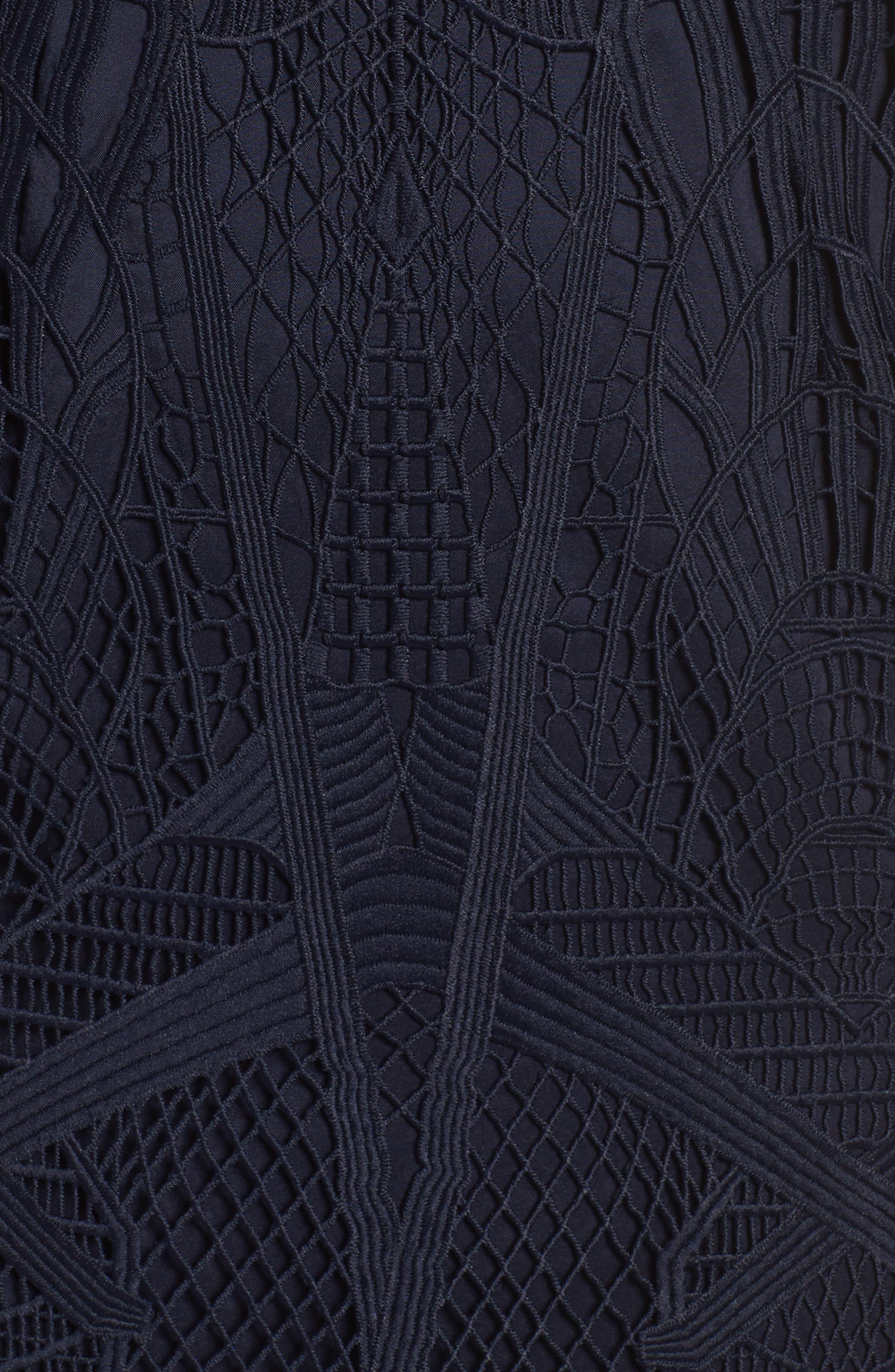 Illusion Lace Sheath Dress,                             Alternate thumbnail 5, color,                             417