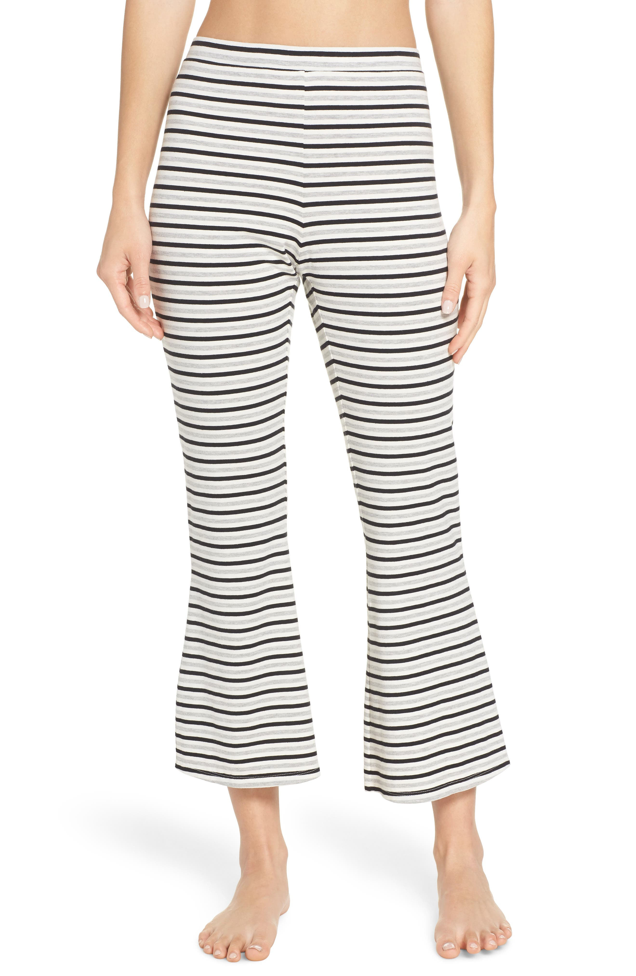 Flare for Drama Crop Lounge Pants,                             Main thumbnail 1, color,                             IVORY