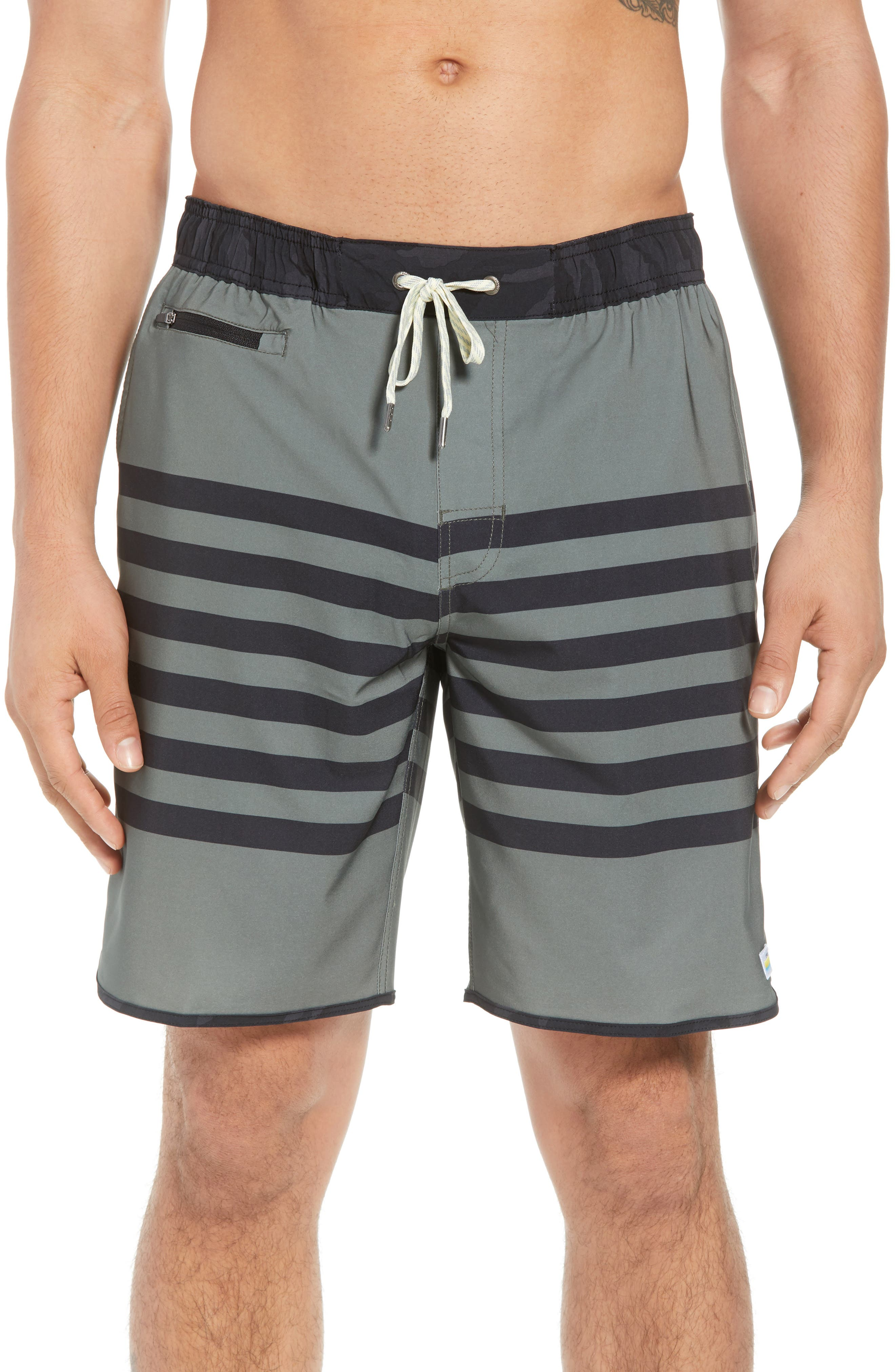 Banks Shorts,                         Main,                         color, ARMY STRIPE