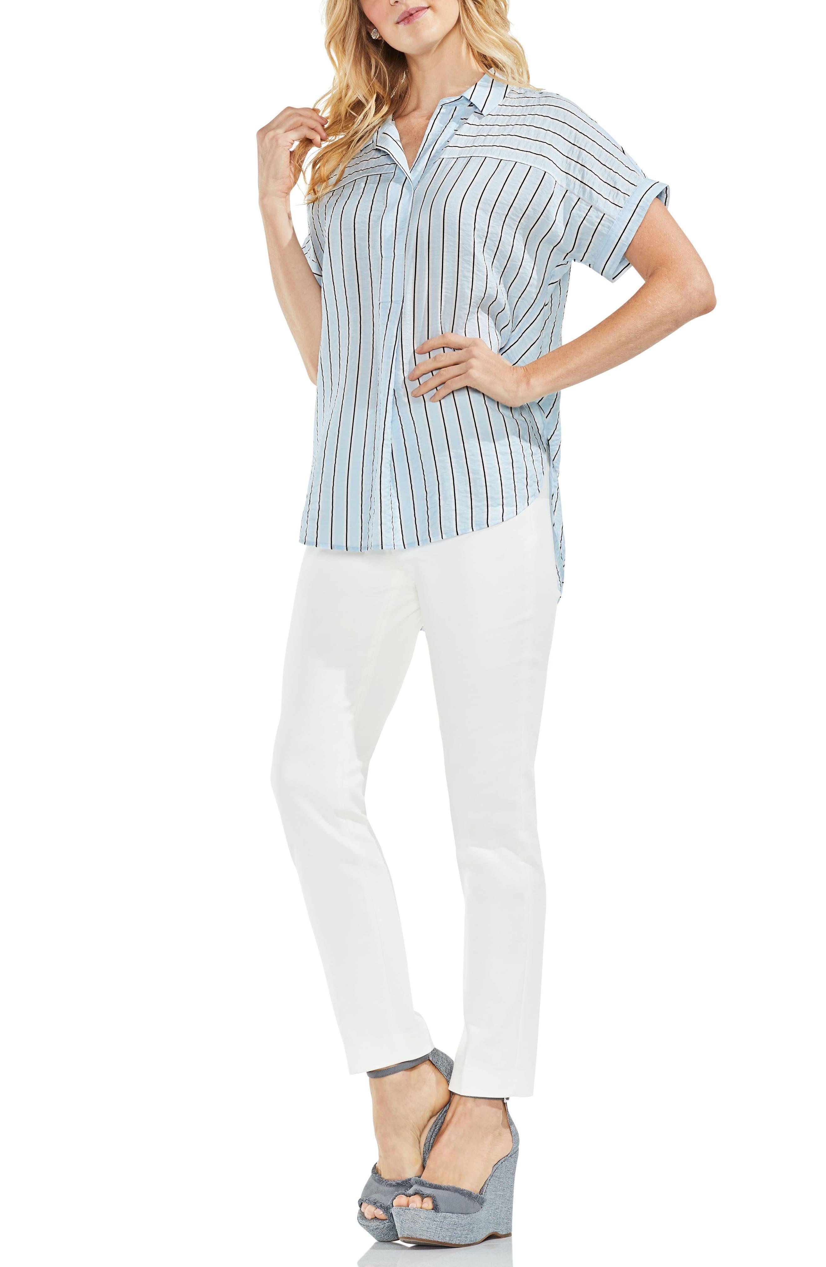 Modern Canopy Stripe Short Sleeve Top,                             Alternate thumbnail 3, color,                             466