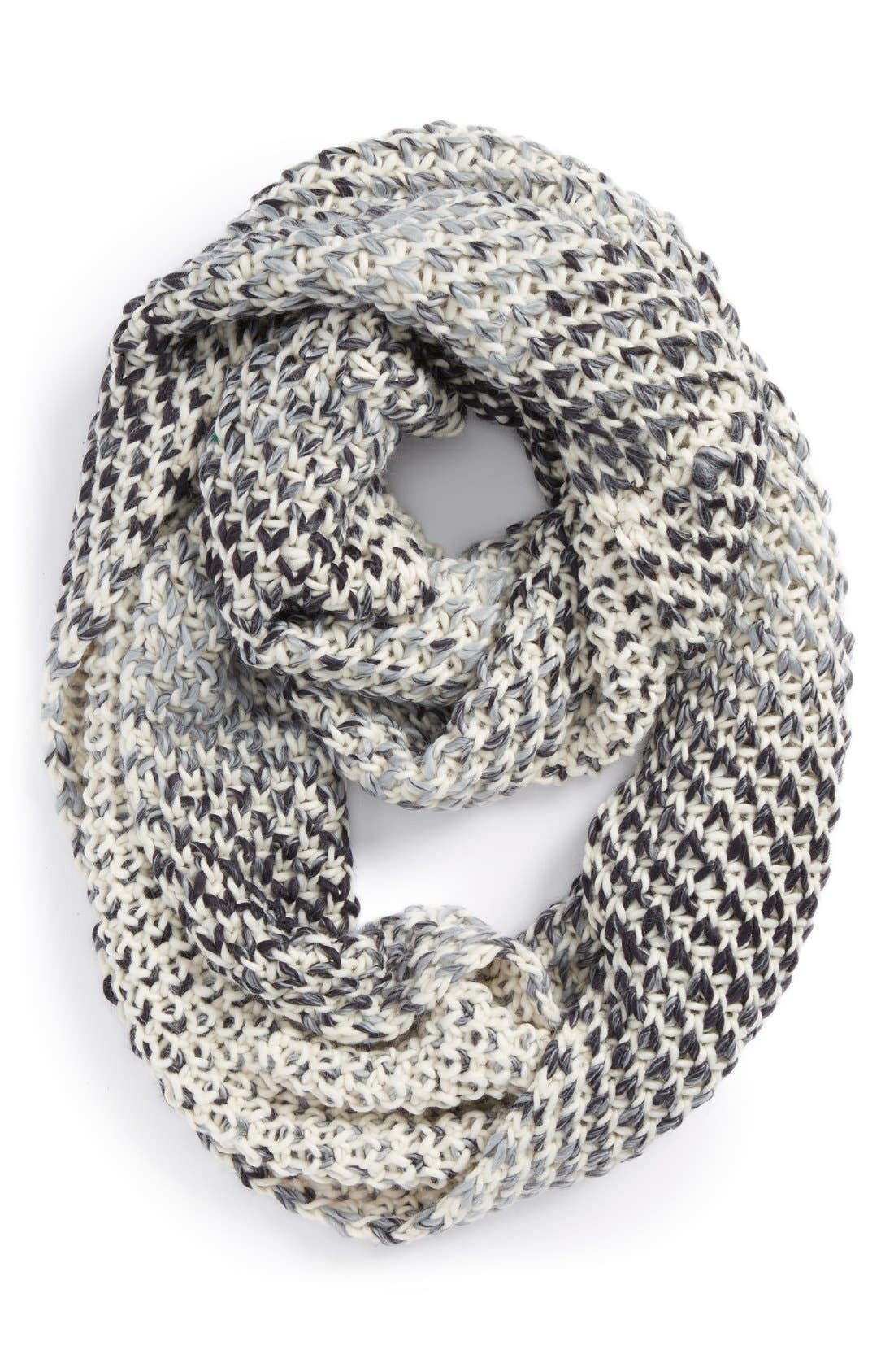 MICHAEL STARS,                             Knit Infinity Scarf,                             Main thumbnail 1, color,                             001