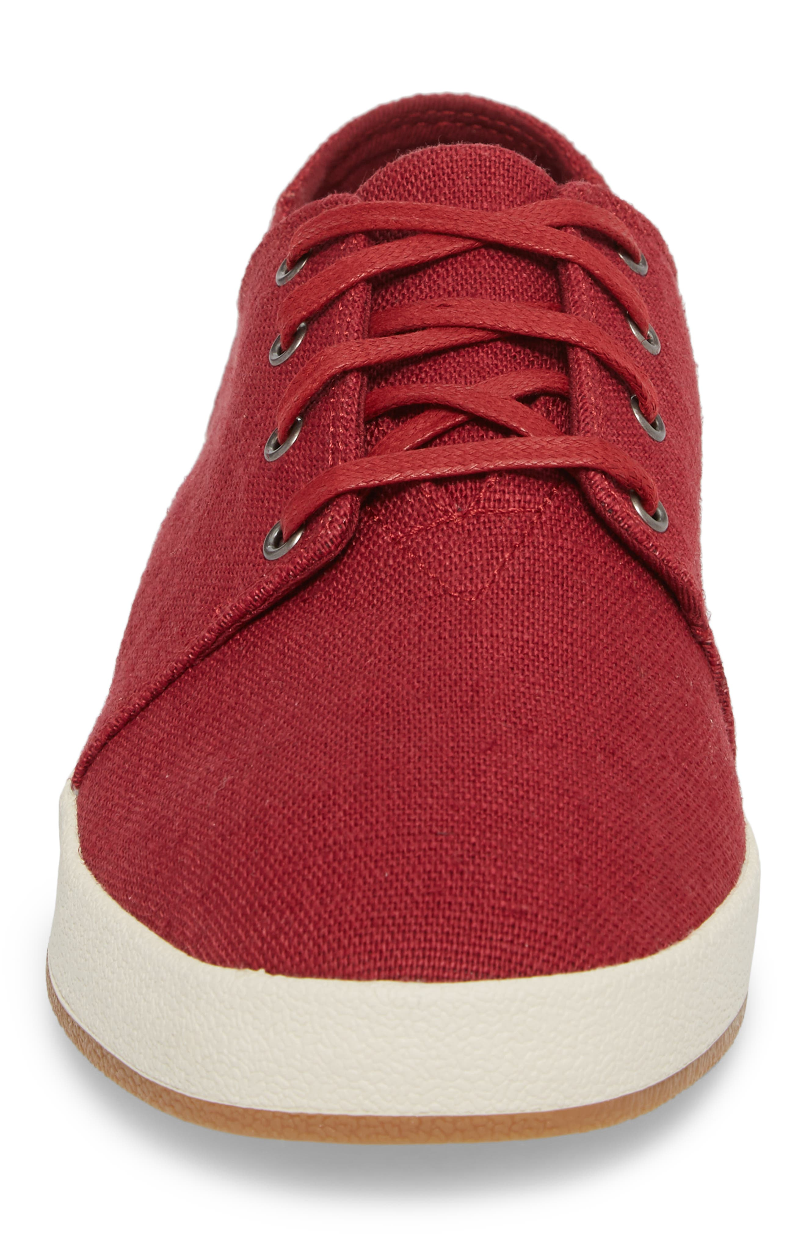 Payton Sneaker,                             Alternate thumbnail 4, color,                             HENNA RED HERITAGE CANVAS