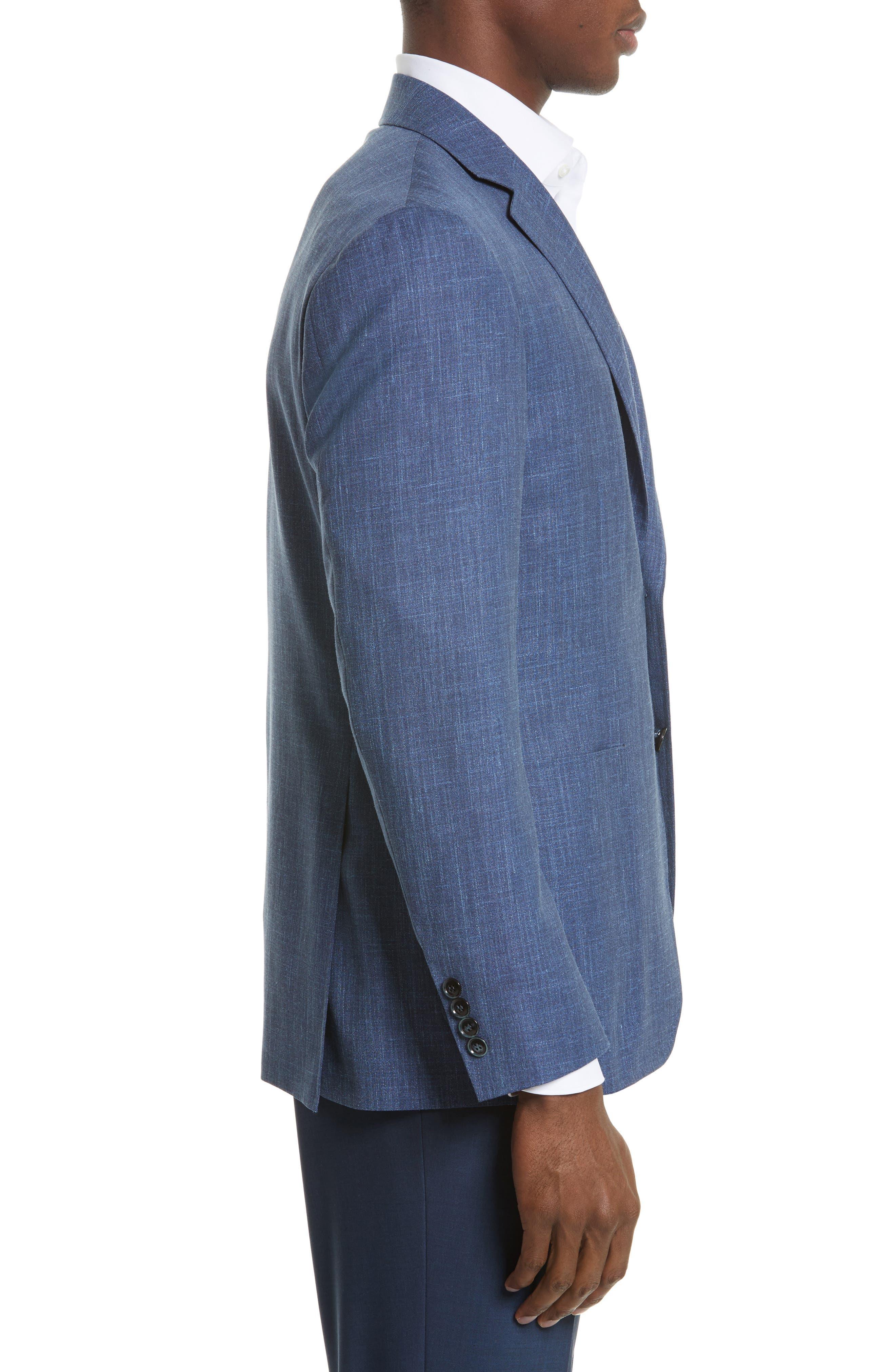 Kei Classic Fit Wool Blend Blazer,                             Alternate thumbnail 3, color,                             400