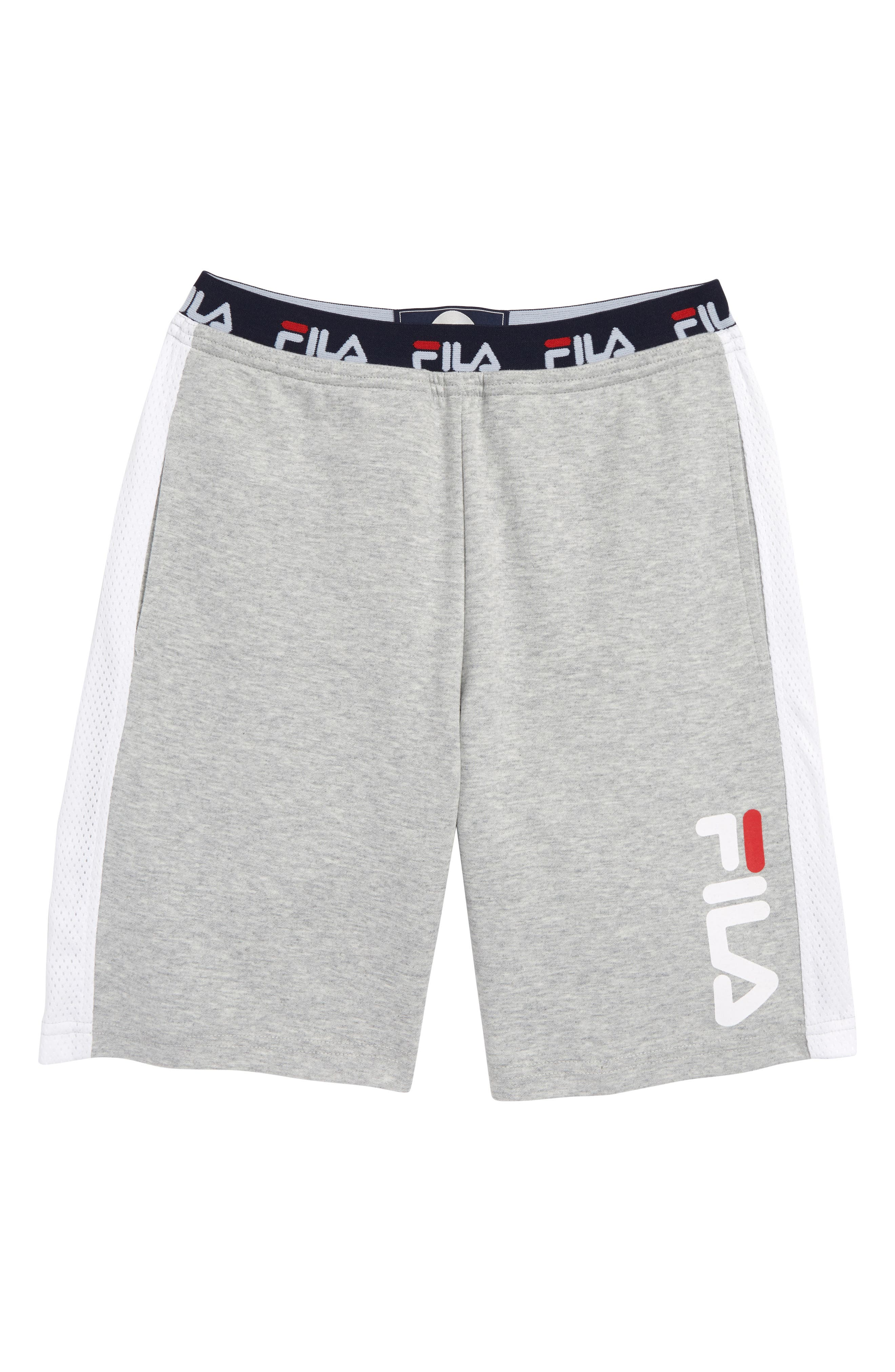 FILA Heritage Logo Sweat Shorts, Main, color, 050