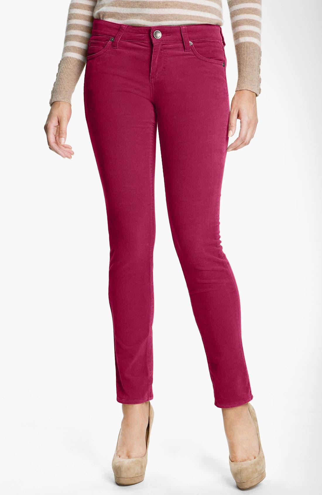 'Diana' Stretch Corduroy Skinny Pants,                             Main thumbnail 41, color,