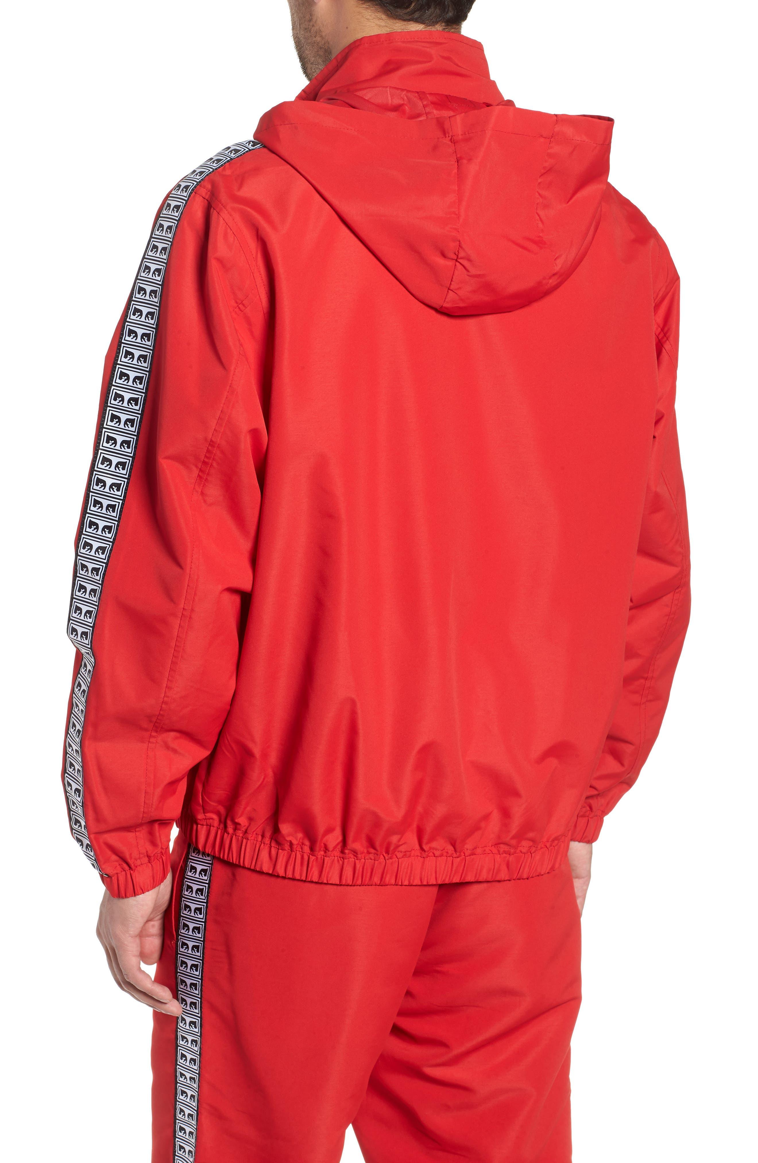 Eyes Lightweight Jacket,                             Alternate thumbnail 2, color,                             HOT RED