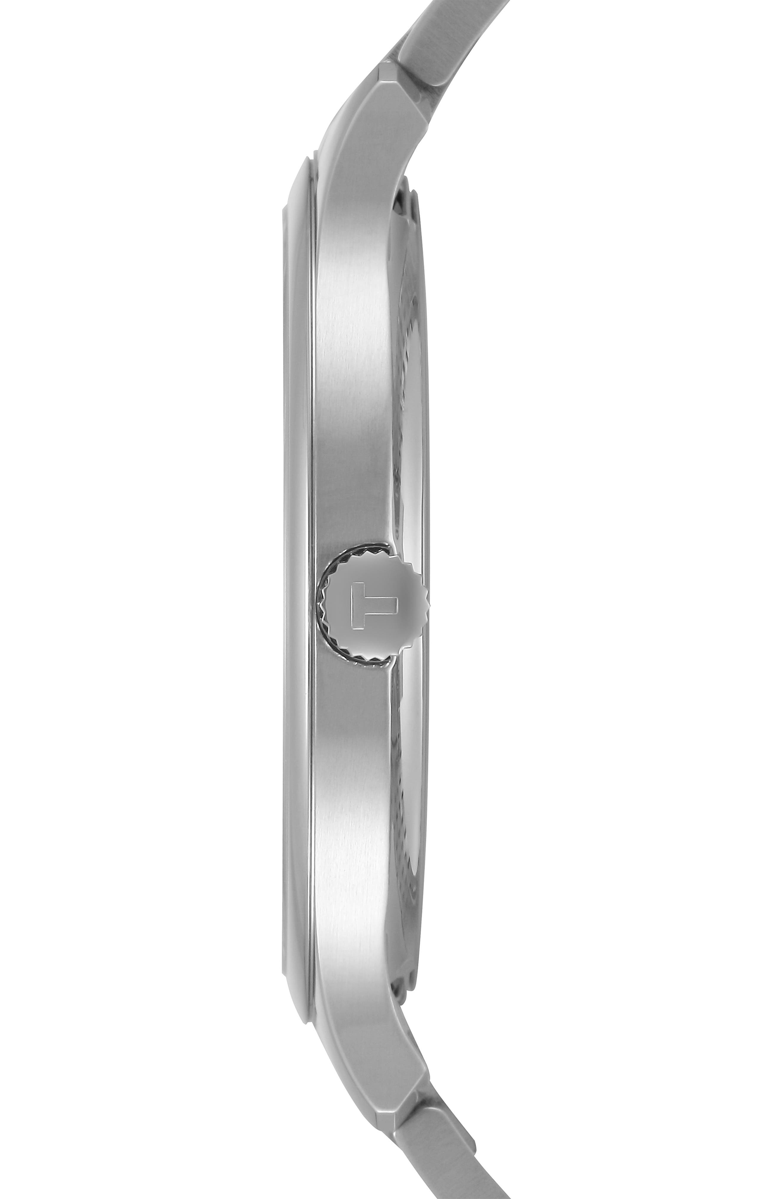 Tradition Bracelet Watch, 42mm,                             Alternate thumbnail 3, color,                             SILVER/ GREY/ SILVER