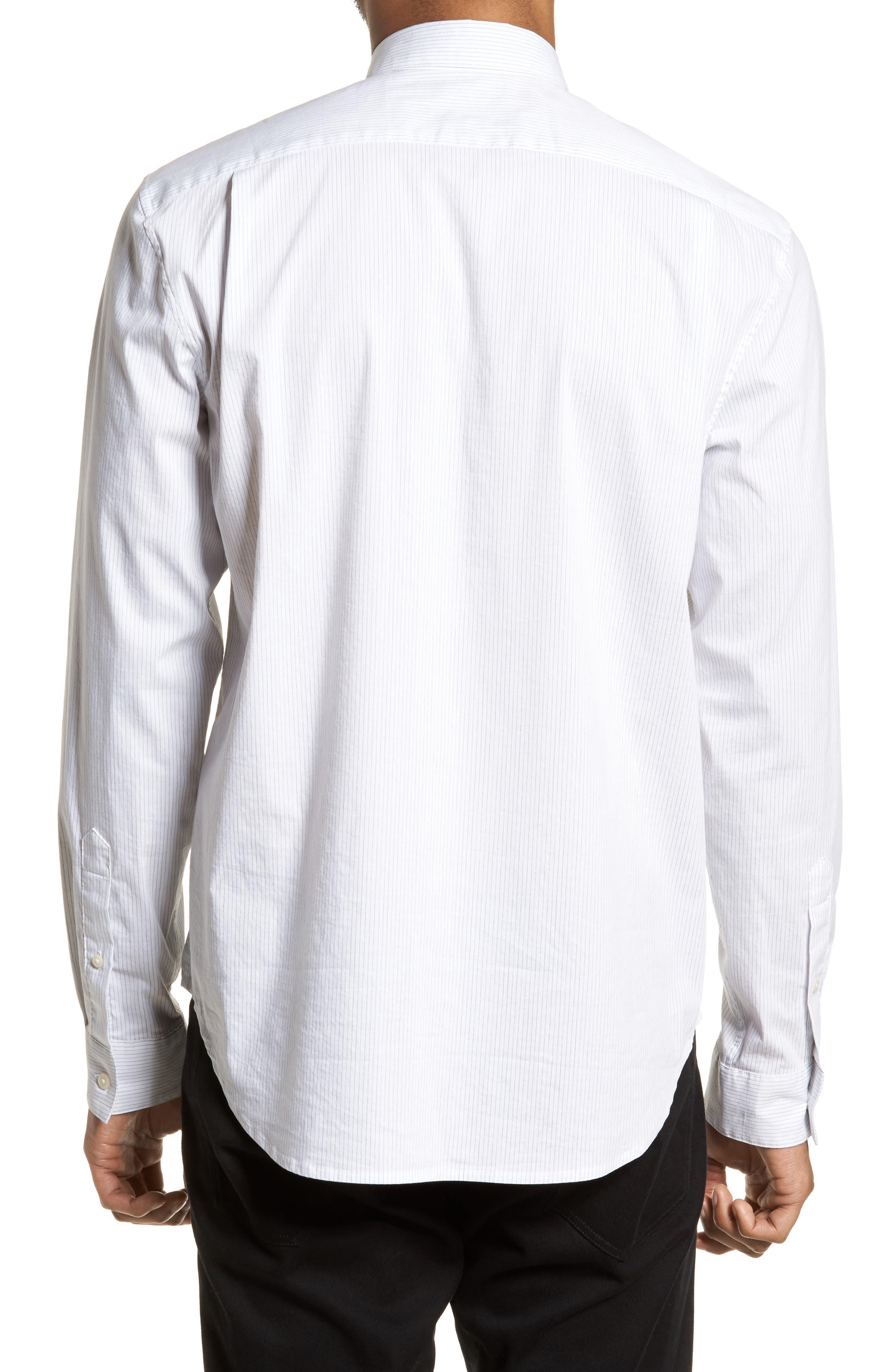 Regular Fit Stretch Stripe Sport Shirt,                             Alternate thumbnail 3, color,