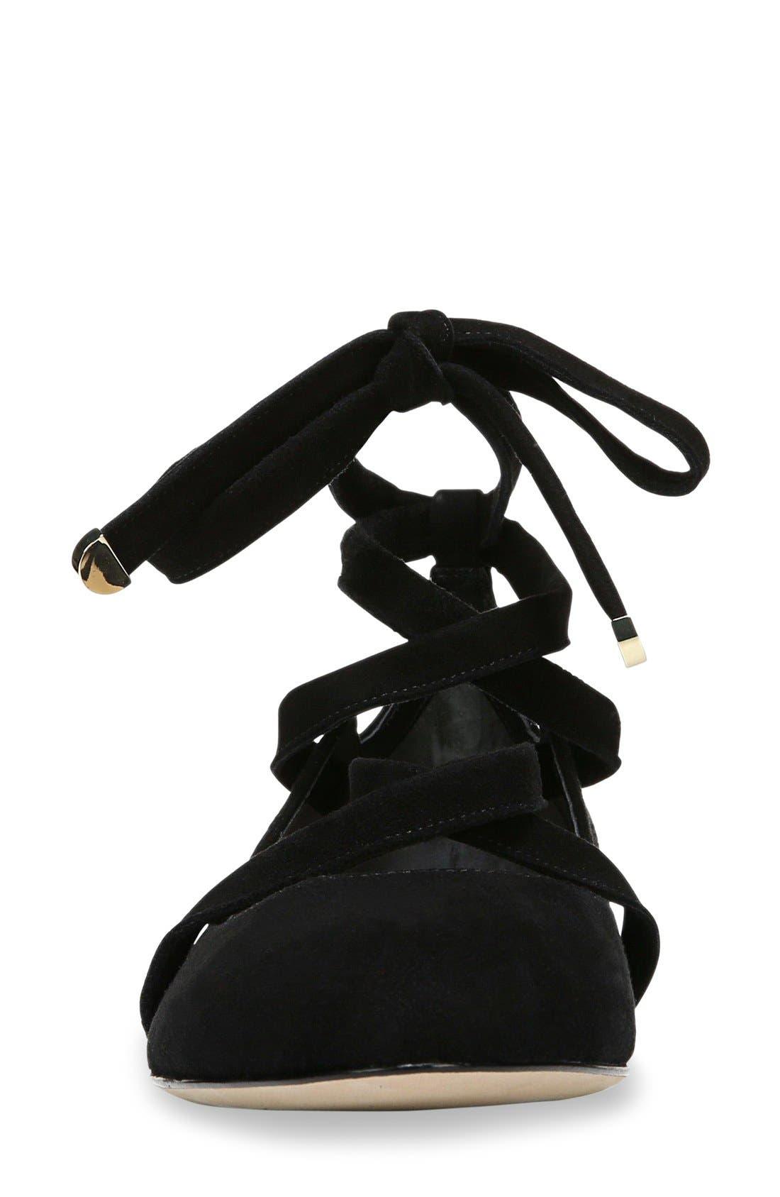 Dakar Ankle Tie Flat,                             Alternate thumbnail 9, color,                             002