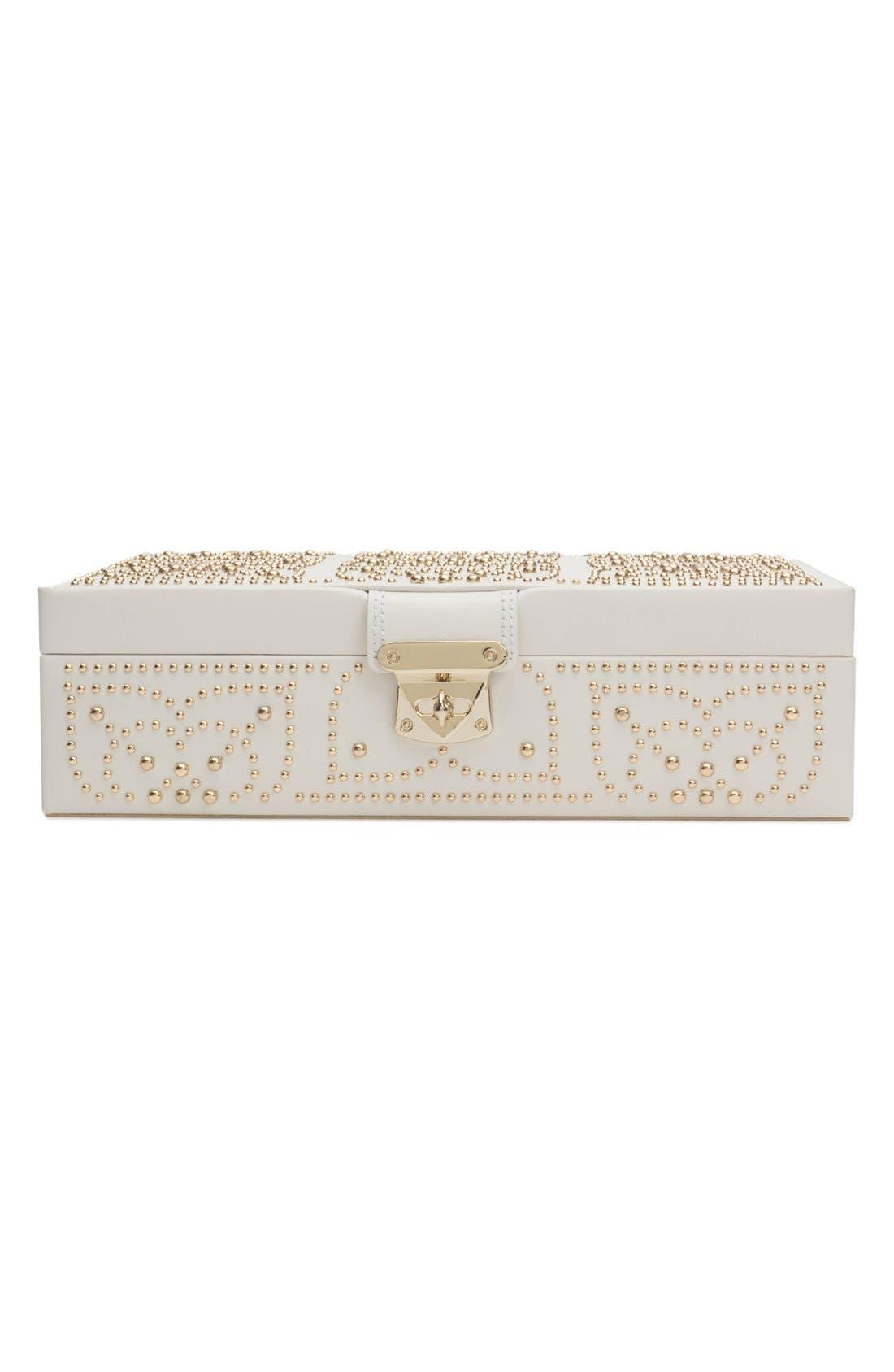 'Marrakesh' Flat Jewelry Box,                             Alternate thumbnail 3, color,                             CREAM