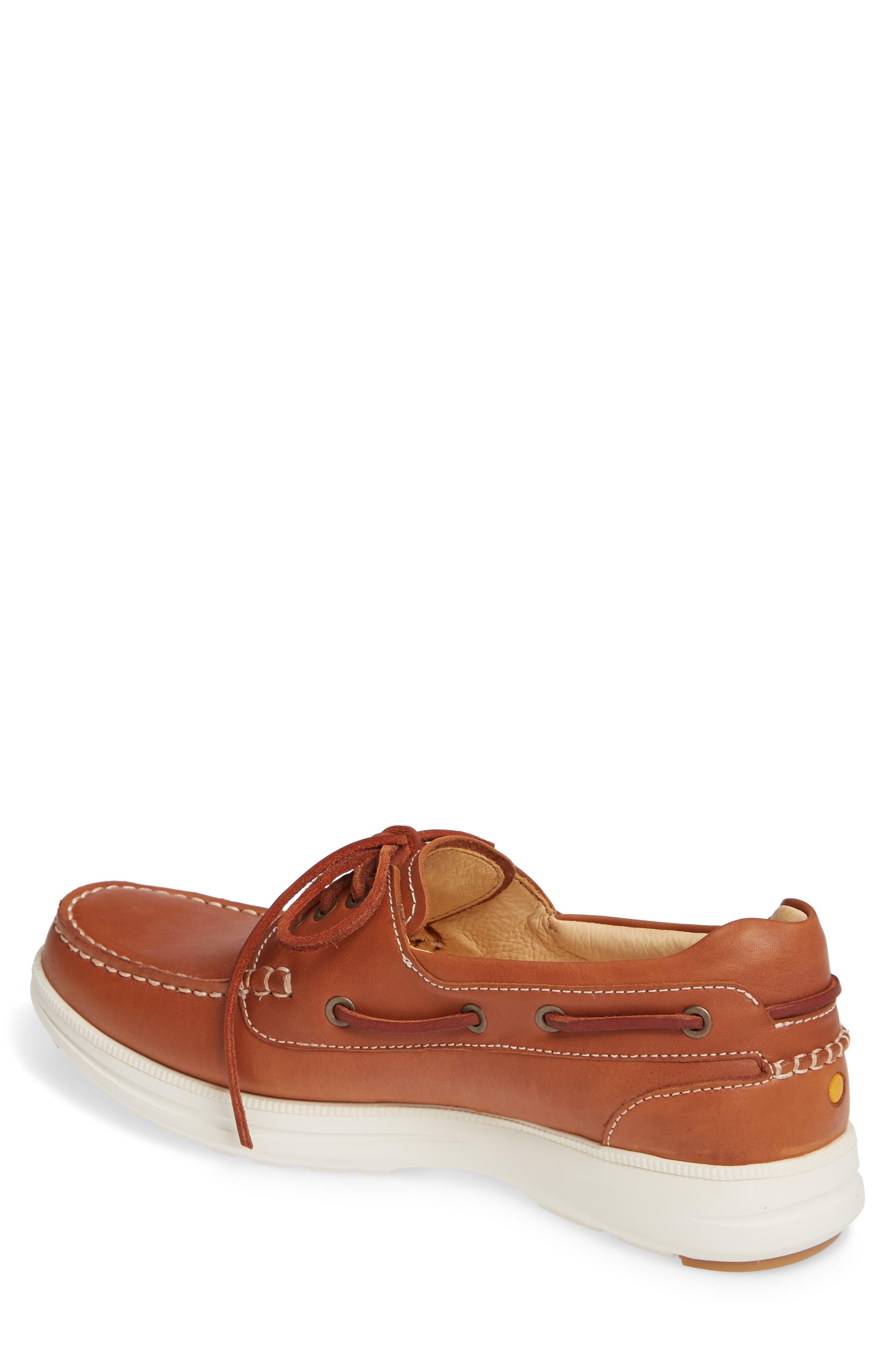 New Endeavor Moc Toe Boat Shoe,                             Alternate thumbnail 2, color,                             TAN WAXED NUBUCK