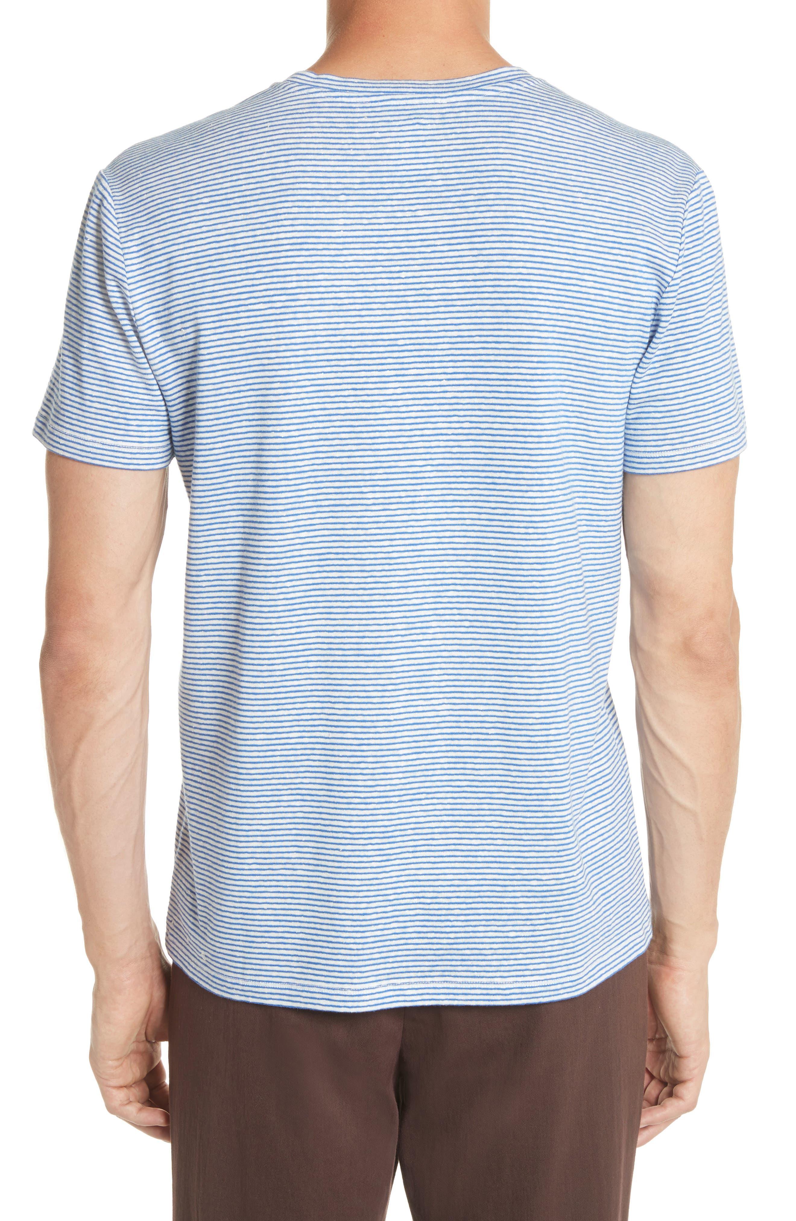 Jimmy Stripe T-Shirt,                             Alternate thumbnail 2, color,                             BLUE