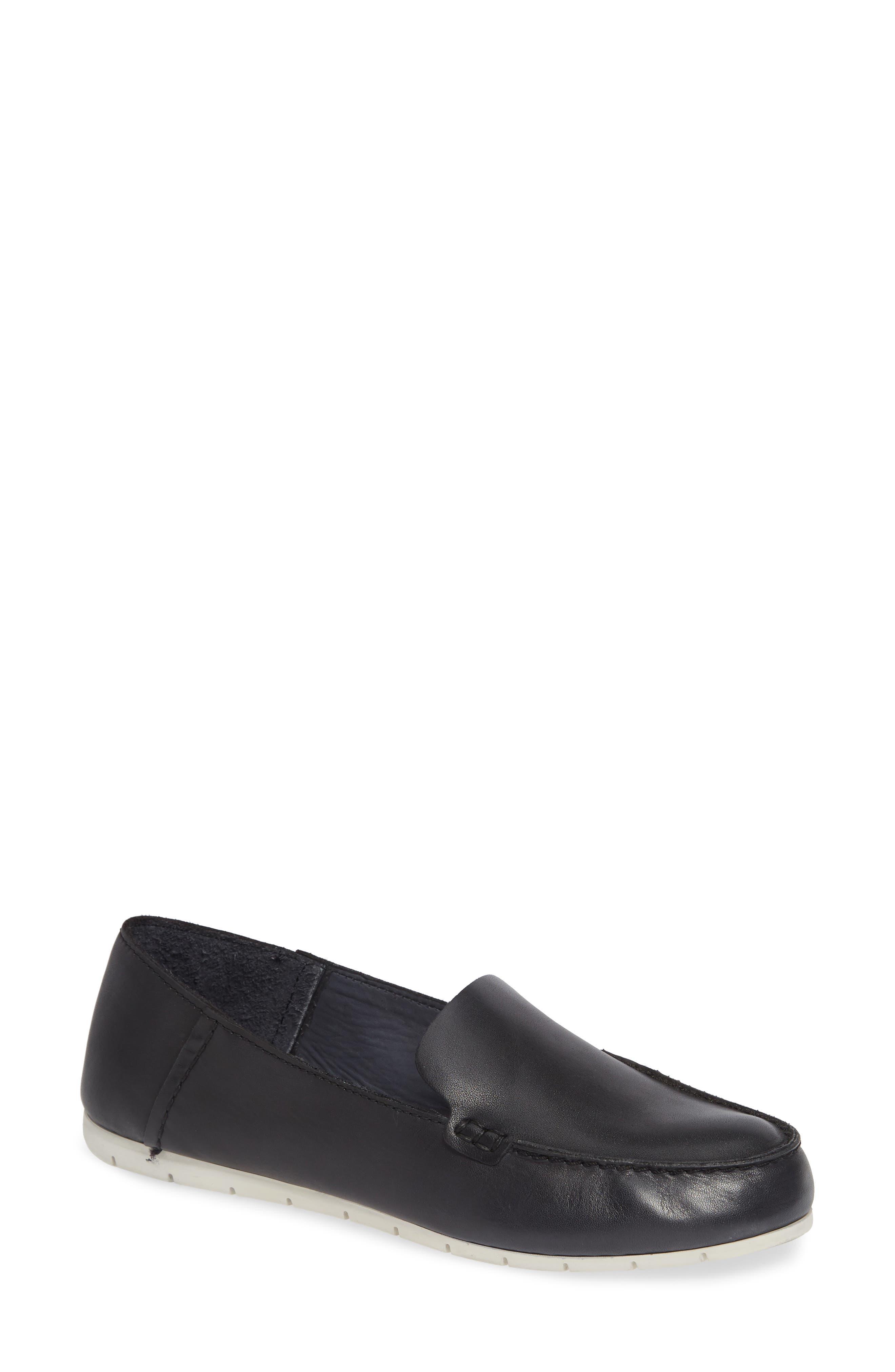 Sedona Venetian Loafer,                             Main thumbnail 1, color,                             BLACK LEATHER
