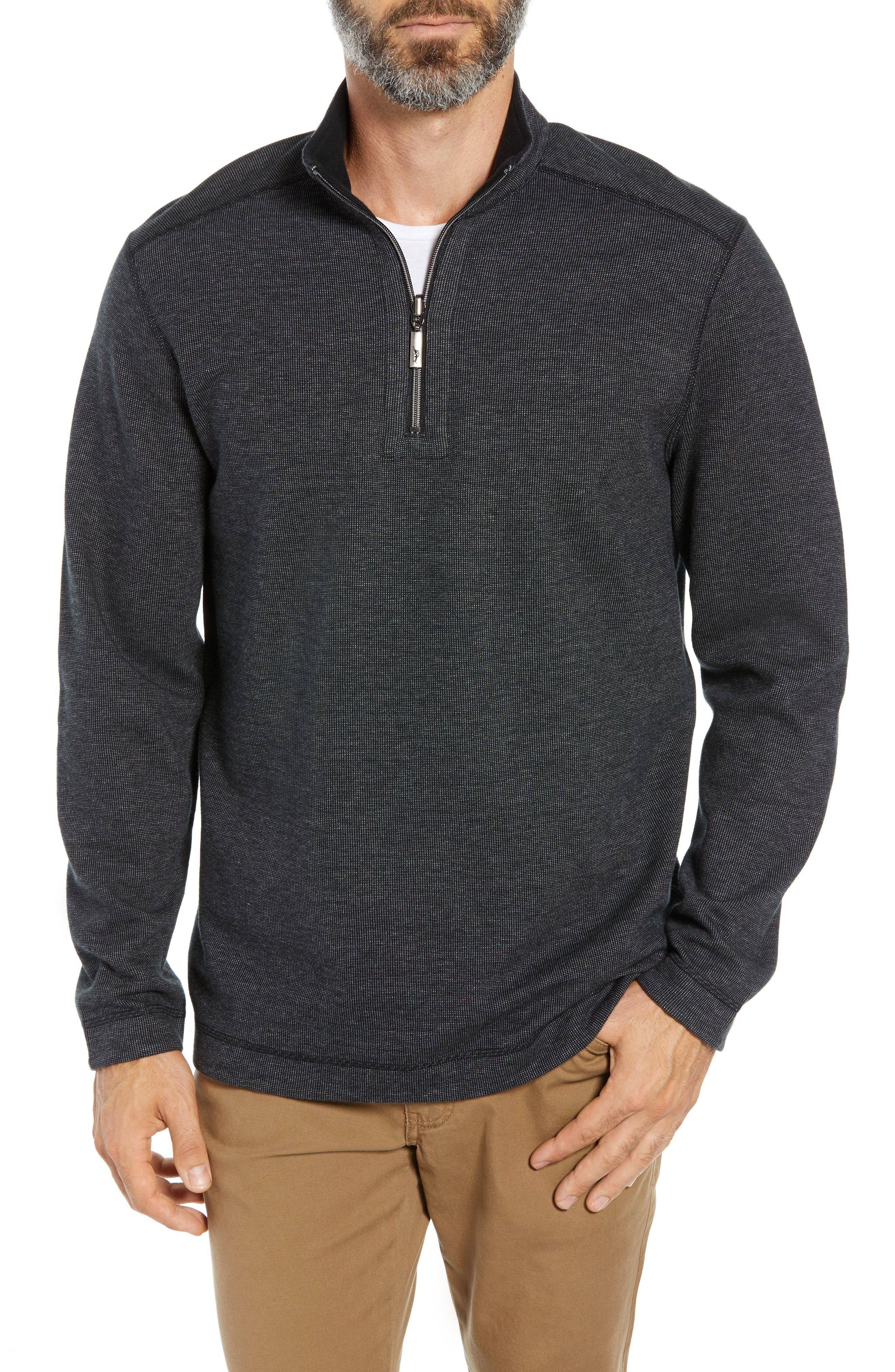 Playa Port Flip Quarter Zip Pullover,                             Main thumbnail 1, color,                             001