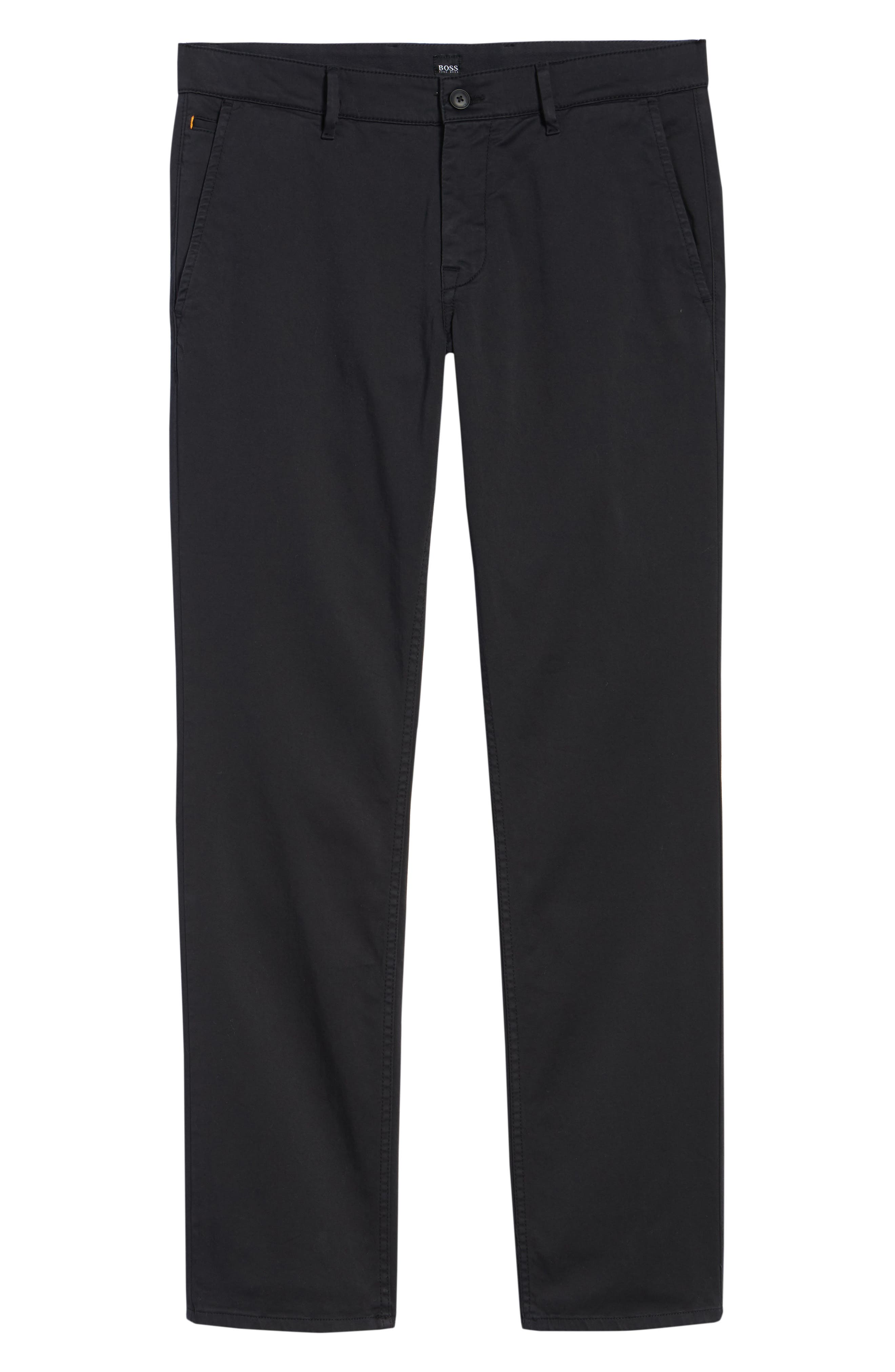 Stretch Chino Pants,                             Alternate thumbnail 6, color,                             BLACK
