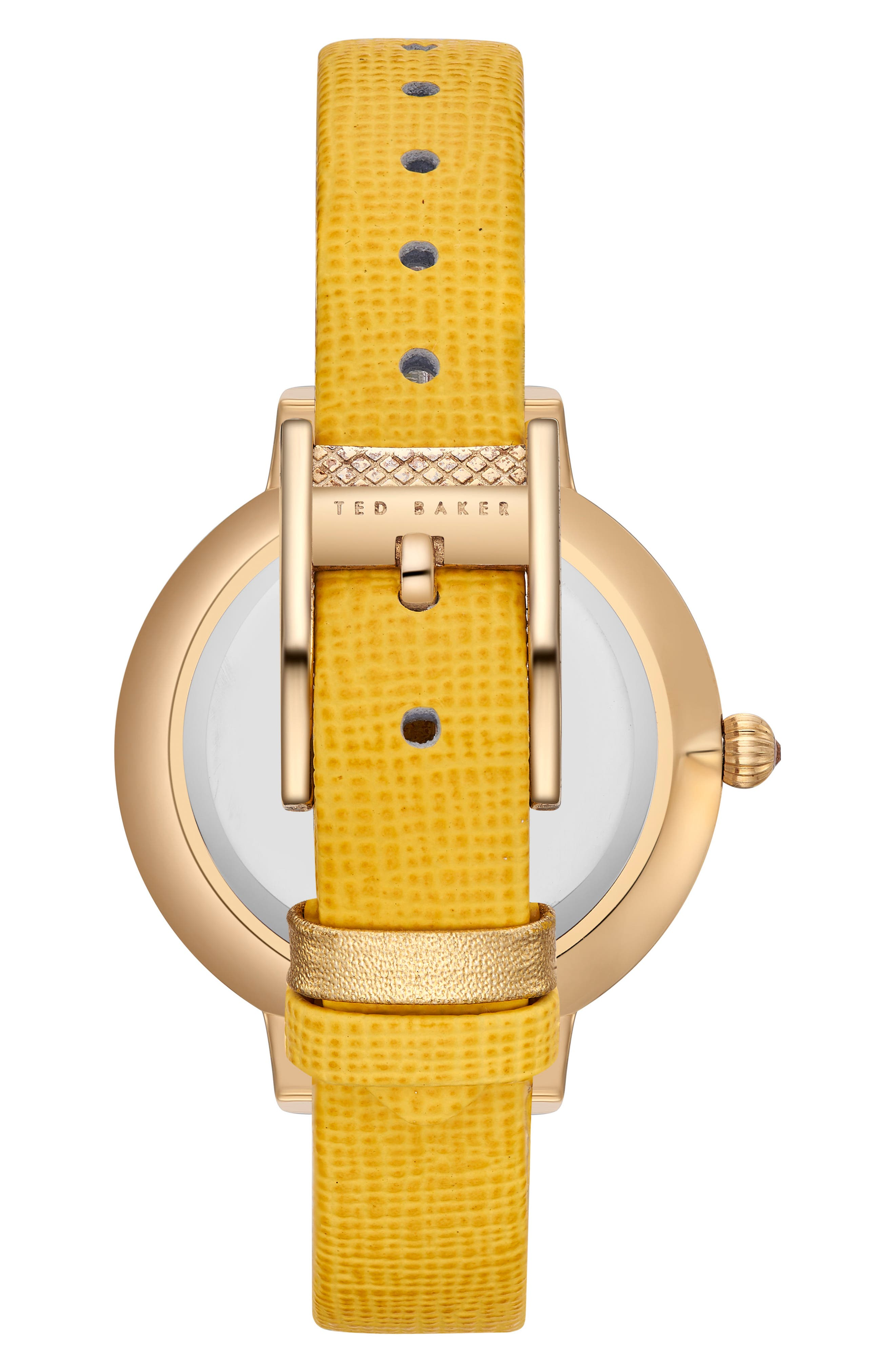 Kate Leather Strap Watch, 36mm,                             Alternate thumbnail 8, color,