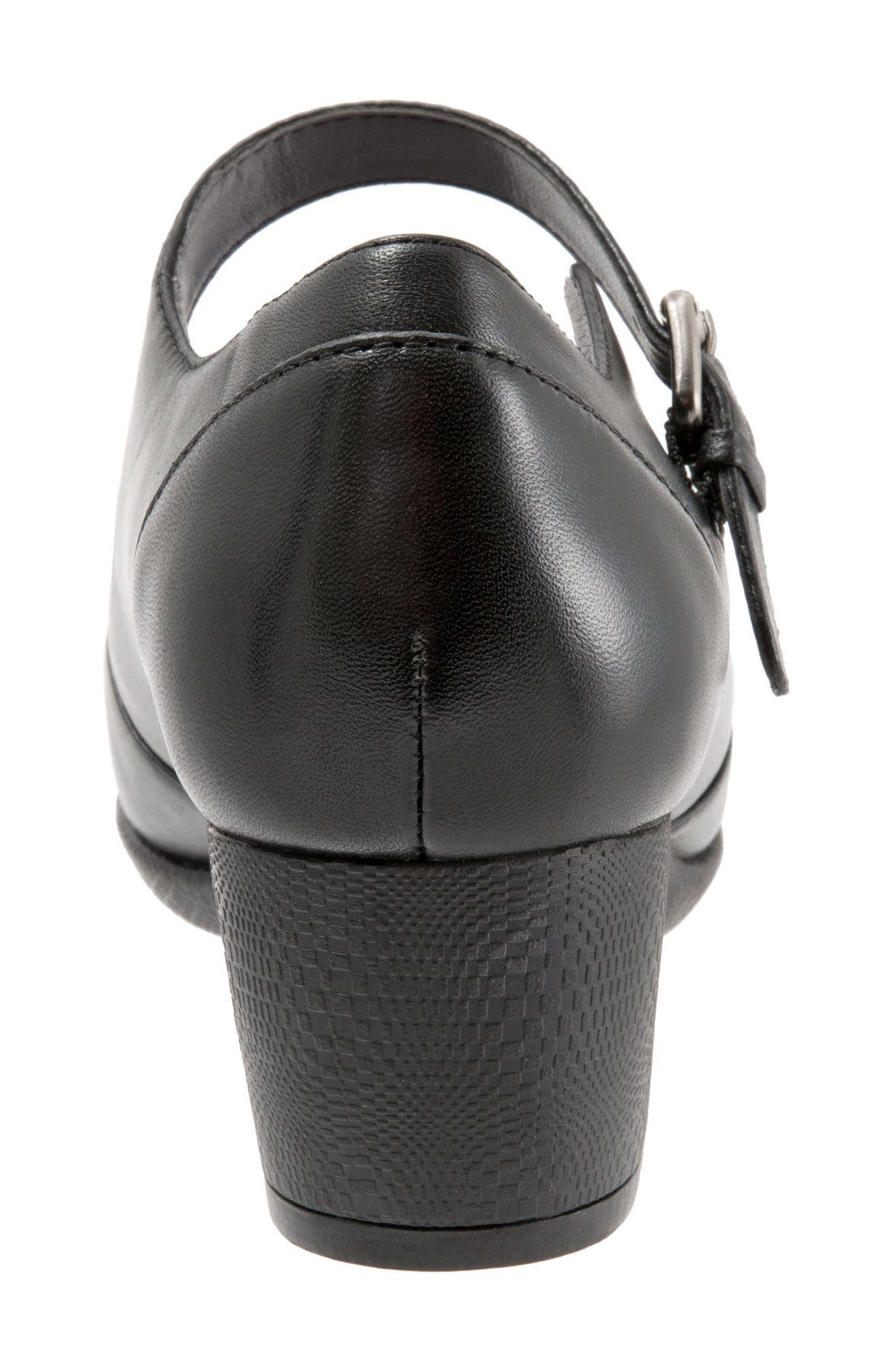 Irish II Pump,                             Alternate thumbnail 7, color,                             BLACK LEATHER