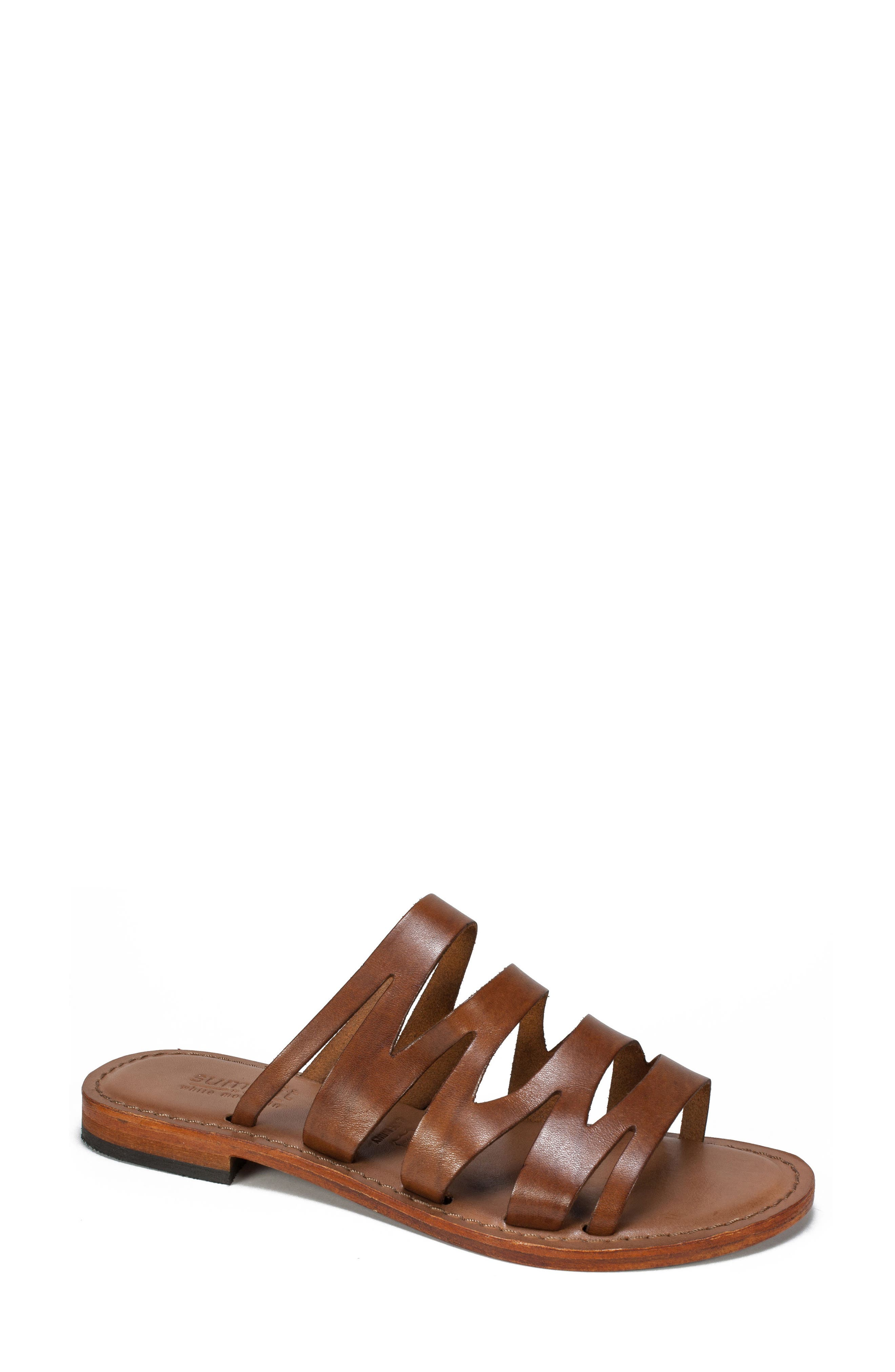Summit Eden Sandal,                         Main,                         color, LIGHT BROWN LEATHER