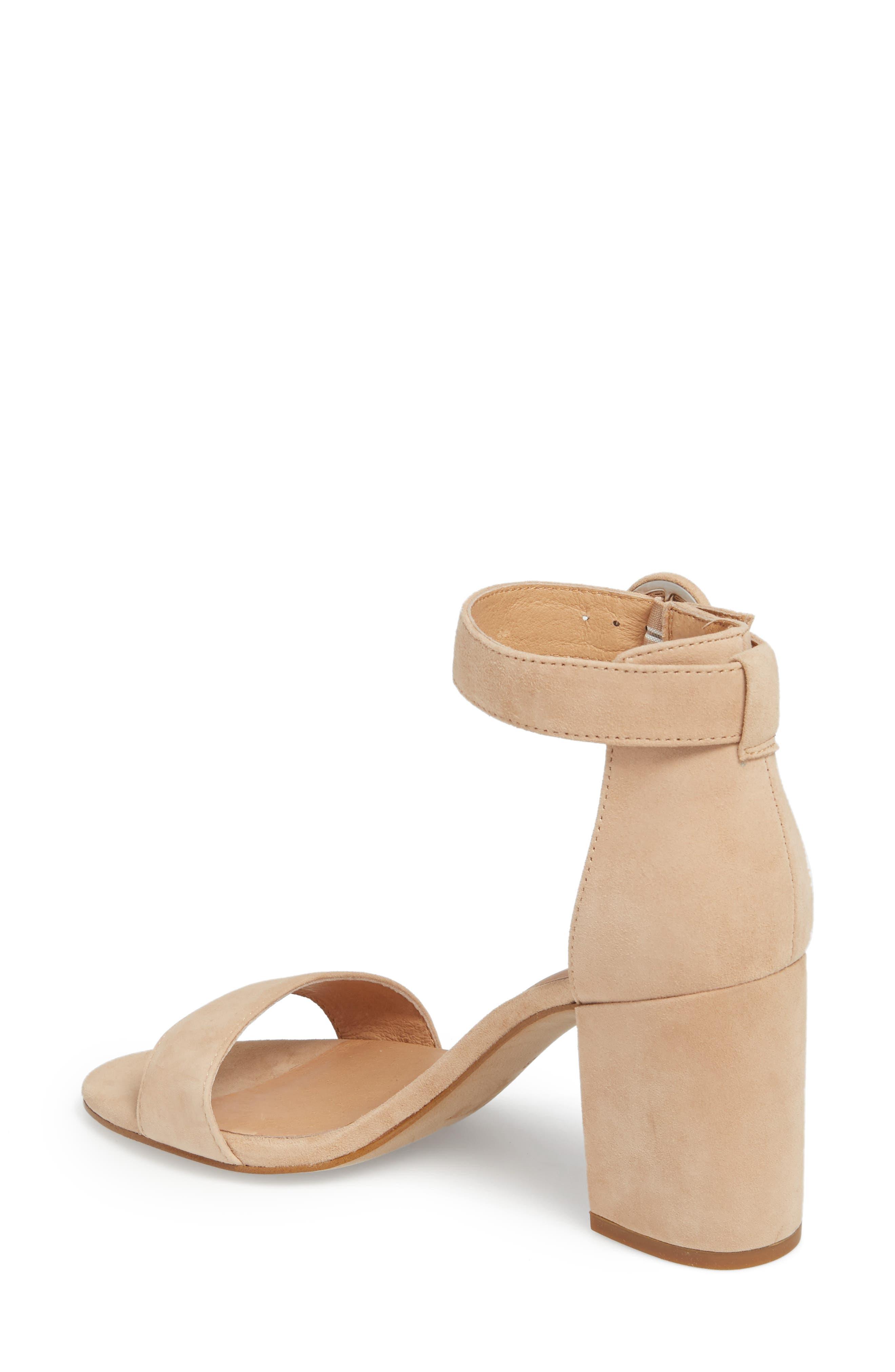 The Regina Ankle Strap Sandal,                             Alternate thumbnail 2, color,                             SAND DUNE SUEDE