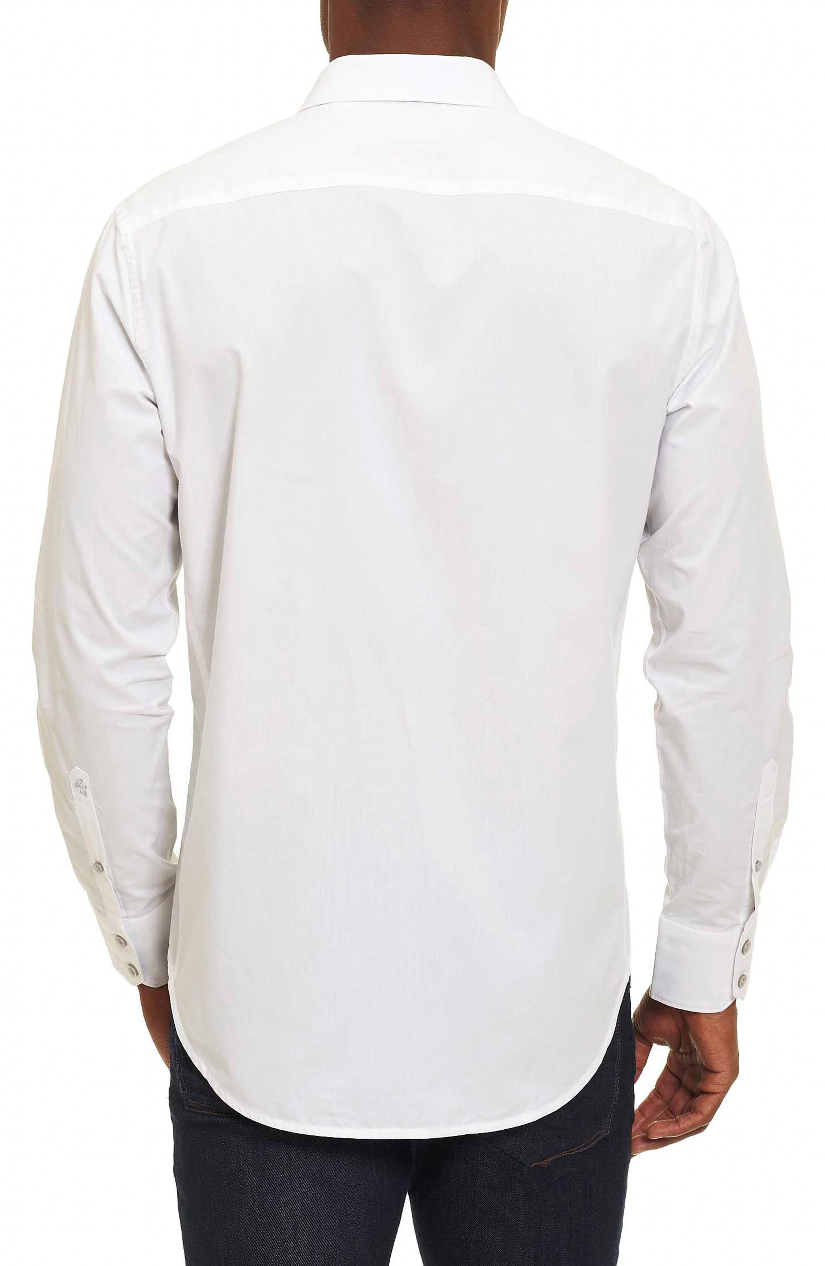 Groves Tailored Fit Sport Shirt,                             Alternate thumbnail 2, color,                             100