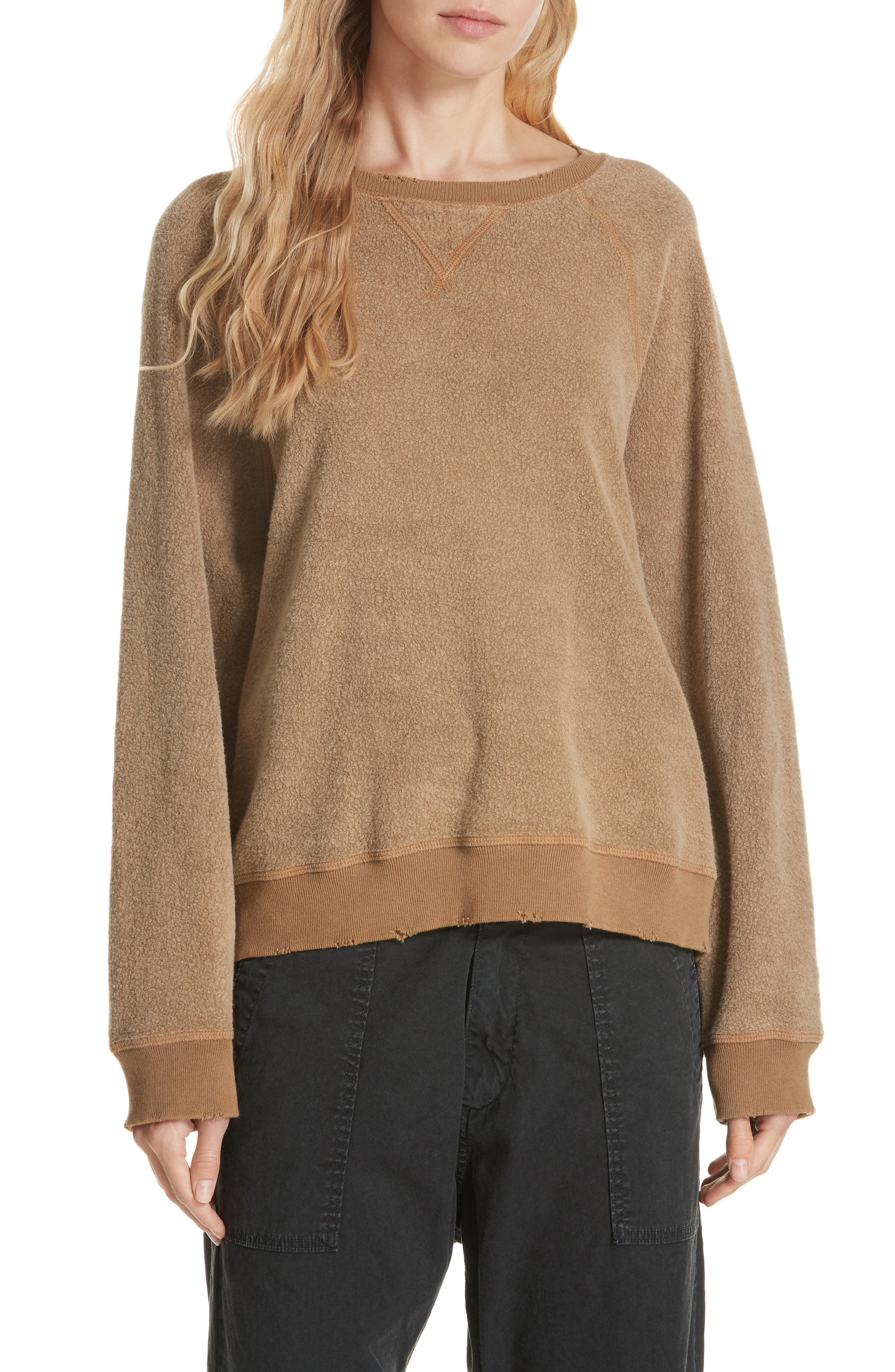 Slouch Sweatshirt,                         Main,                         color, CAMEL