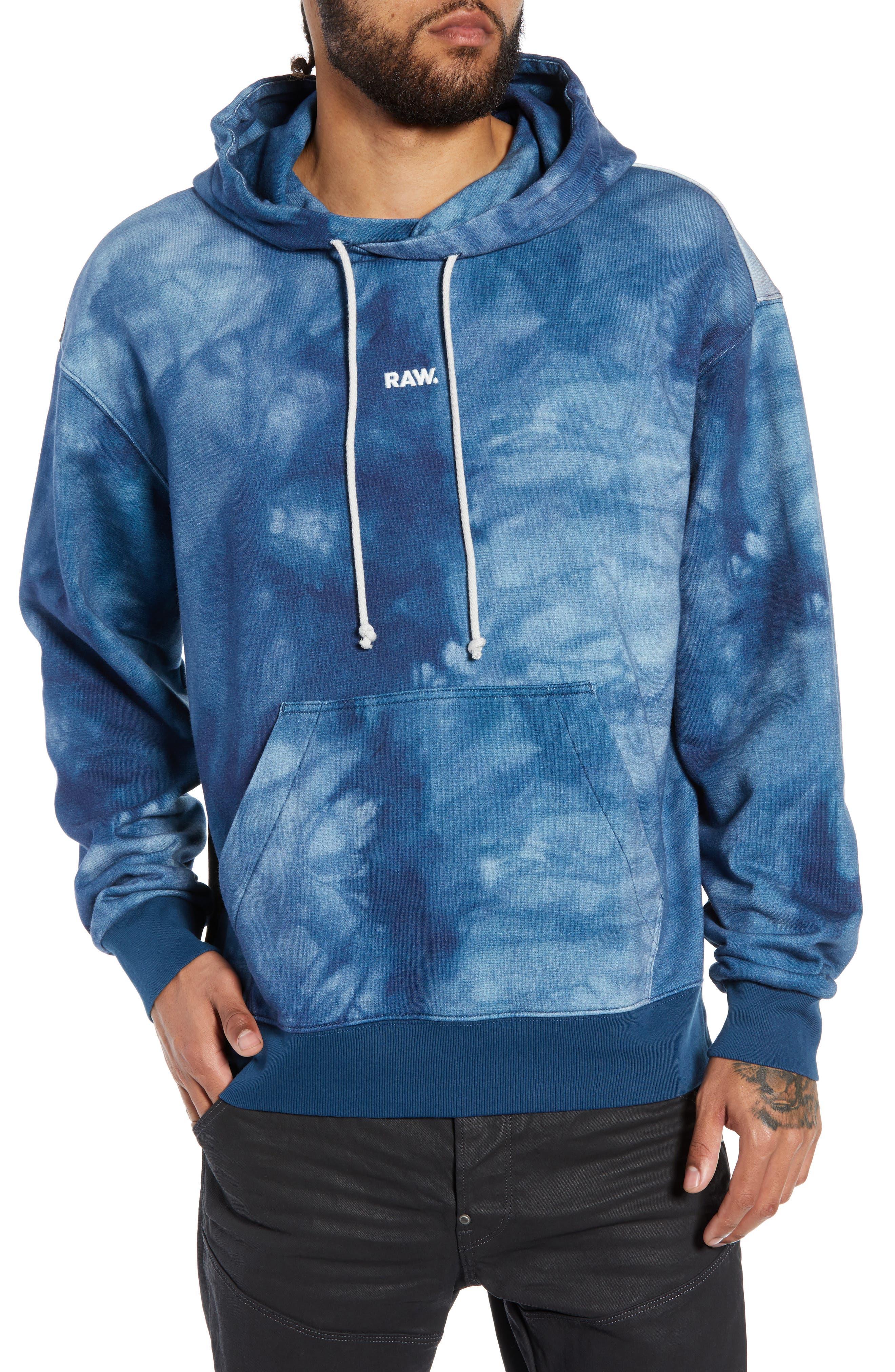 Cryrer Waterfall Hooded Sweatshirt,                         Main,                         color, TEAL BLUE