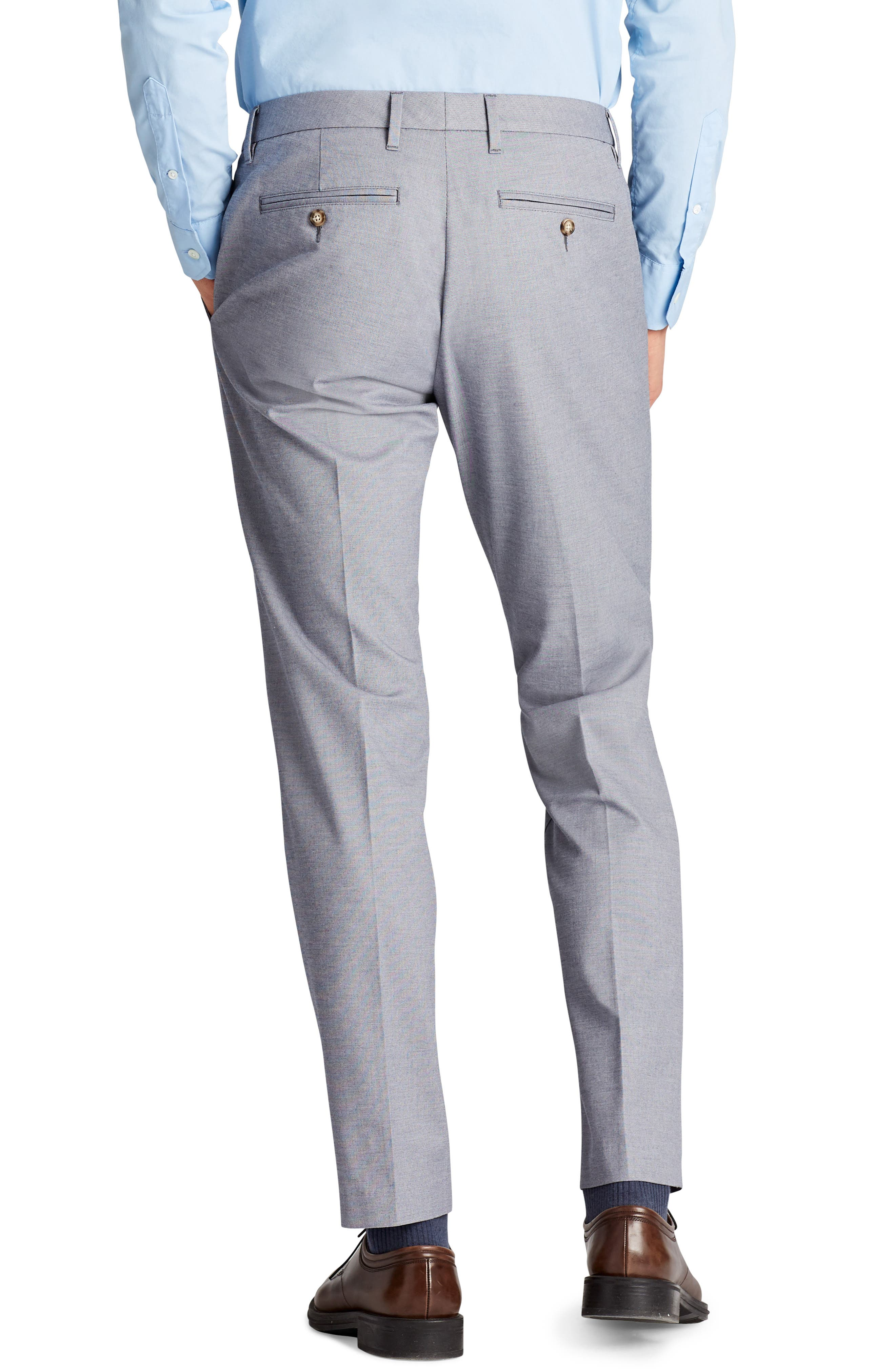 Weekday Warrior Flat Front Stretch Cotton Pants,                             Alternate thumbnail 4, color,