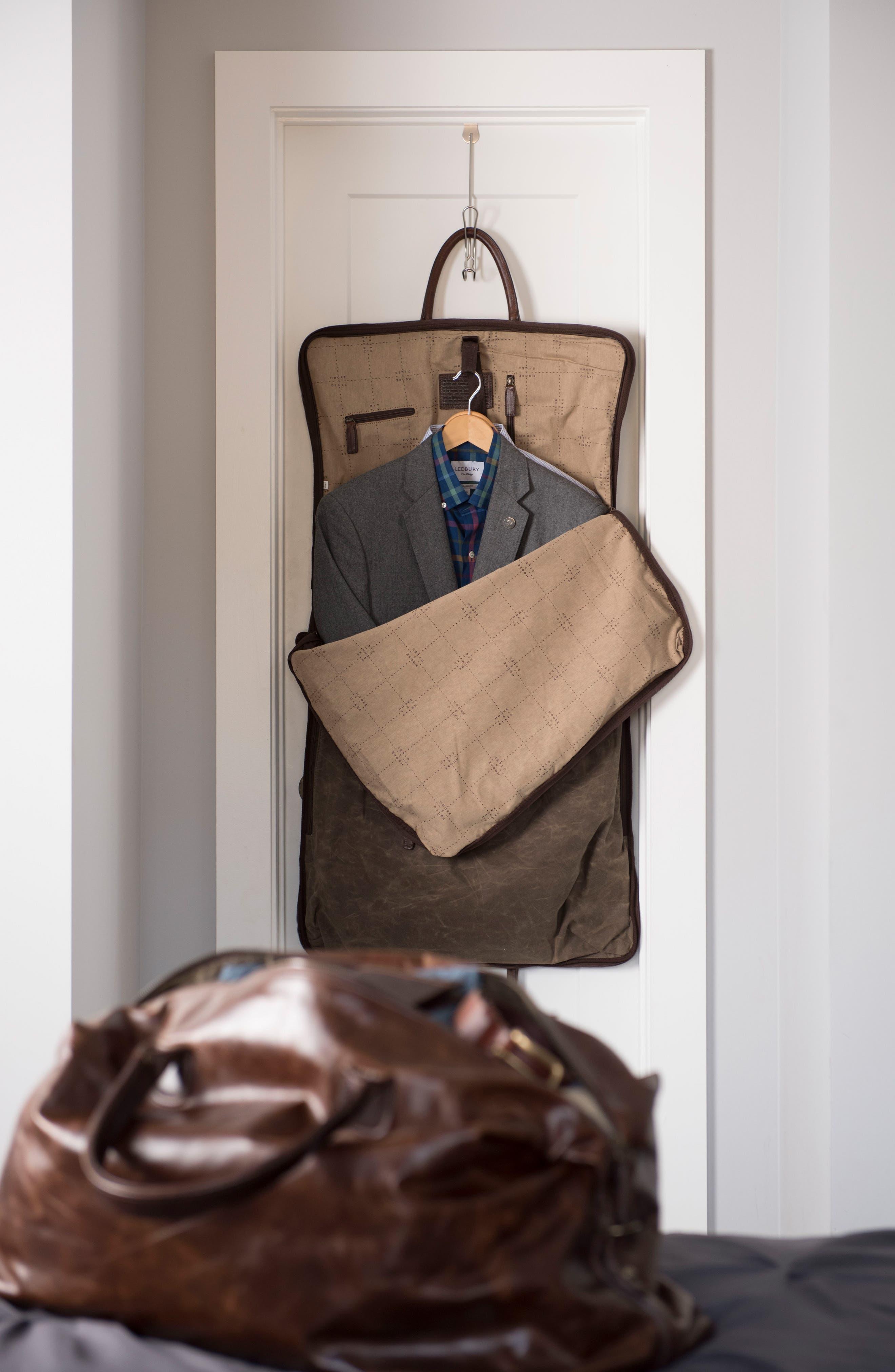 Gravely Garment Bag,                             Alternate thumbnail 3, color,                             WAXWEAR RANGERTAN