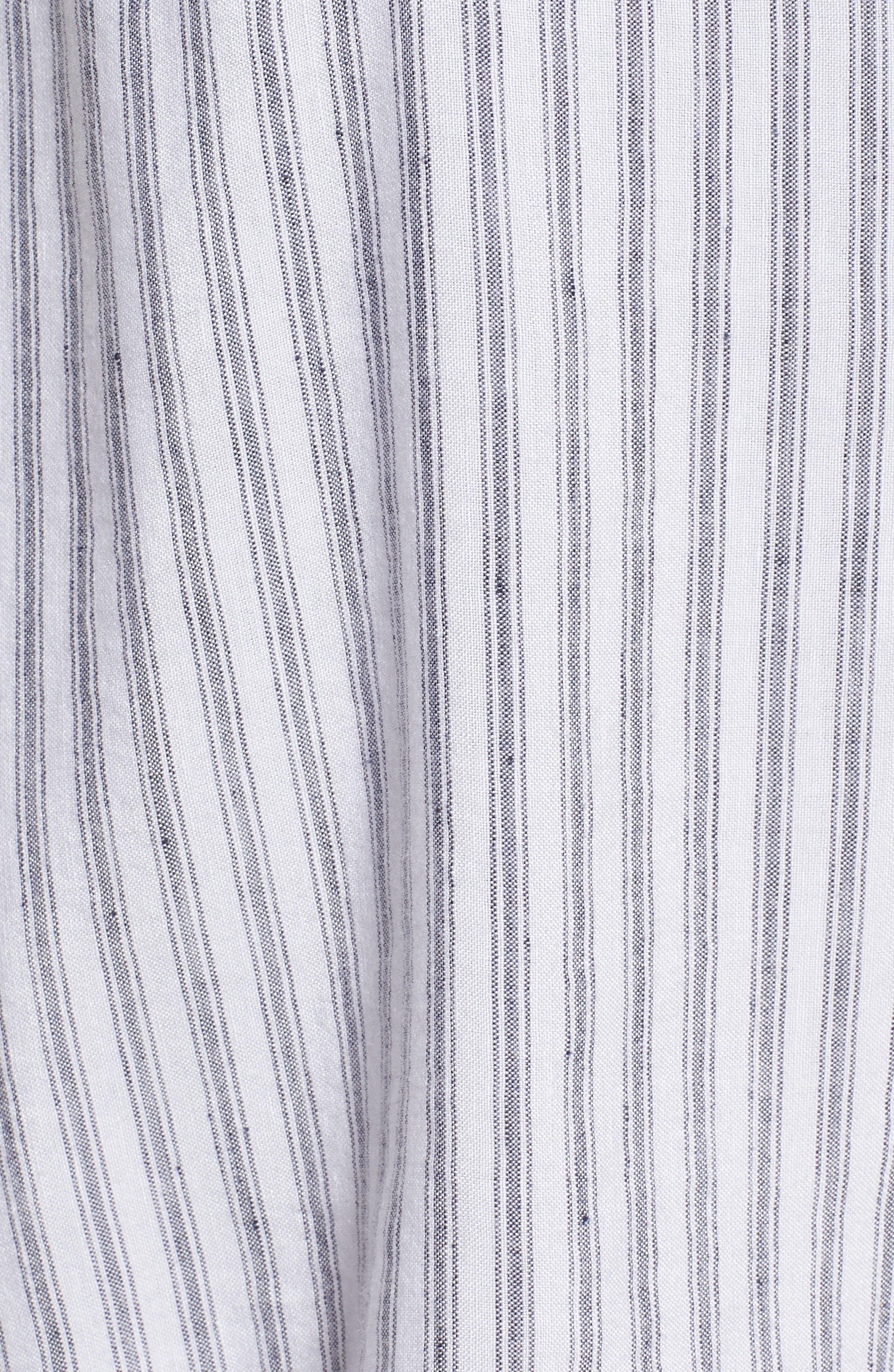 August Stripe Tie Front Dress,                             Alternate thumbnail 6, color,                             CANELA STRIPE