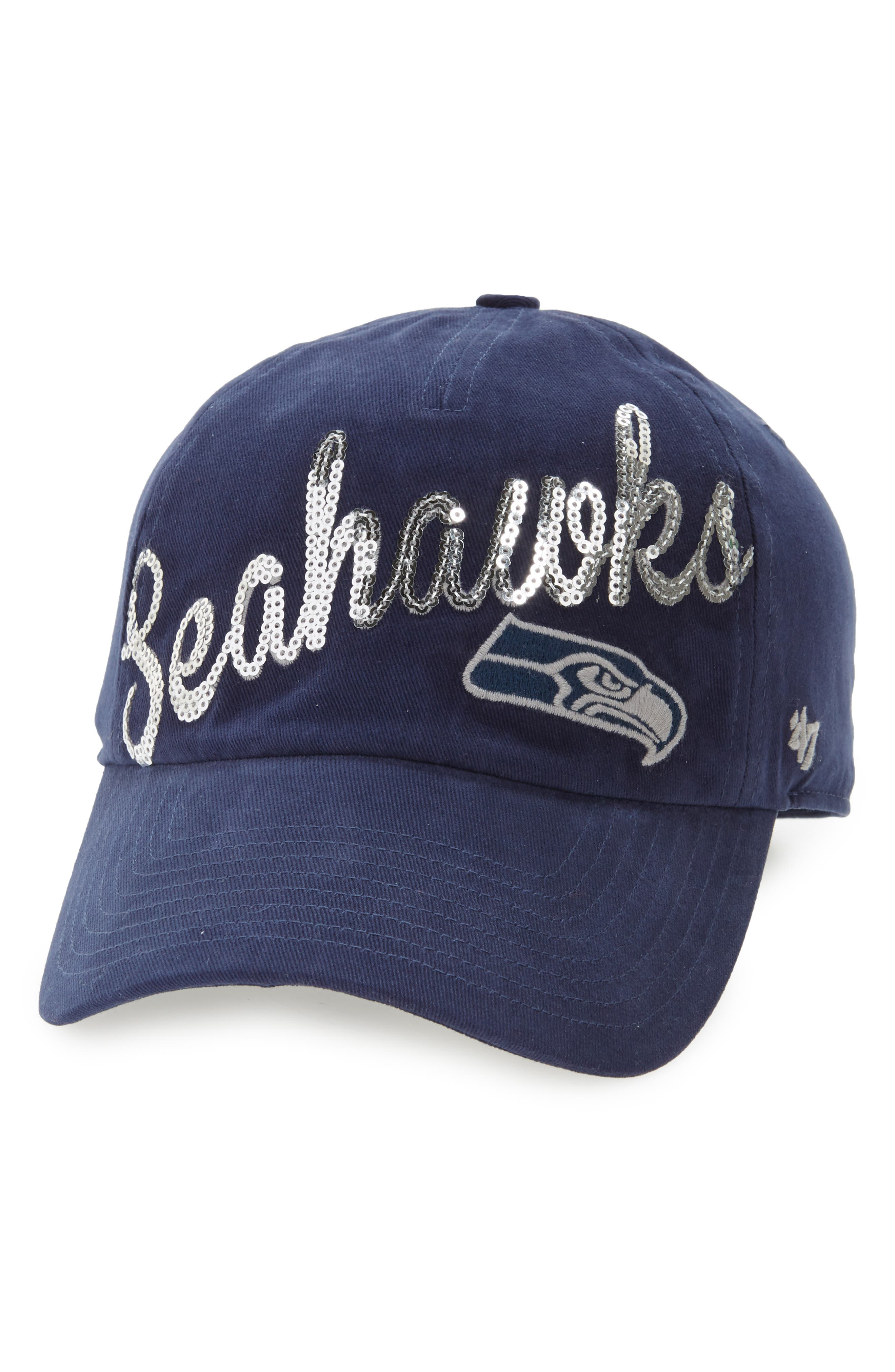 Seattle Seahawks Sparkle Cap,                         Main,                         color, 410