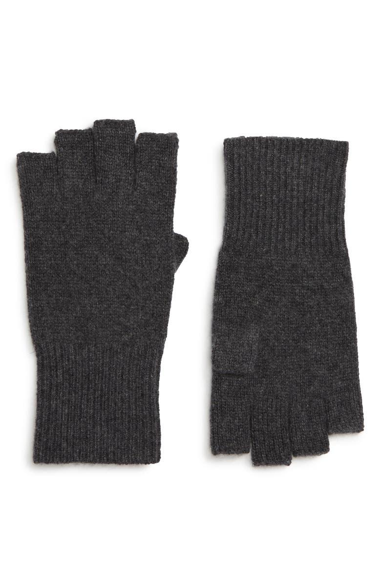 Halogen Cashmere Fingerless Gloves Nordstrom Knit Hoodie Maroon Main