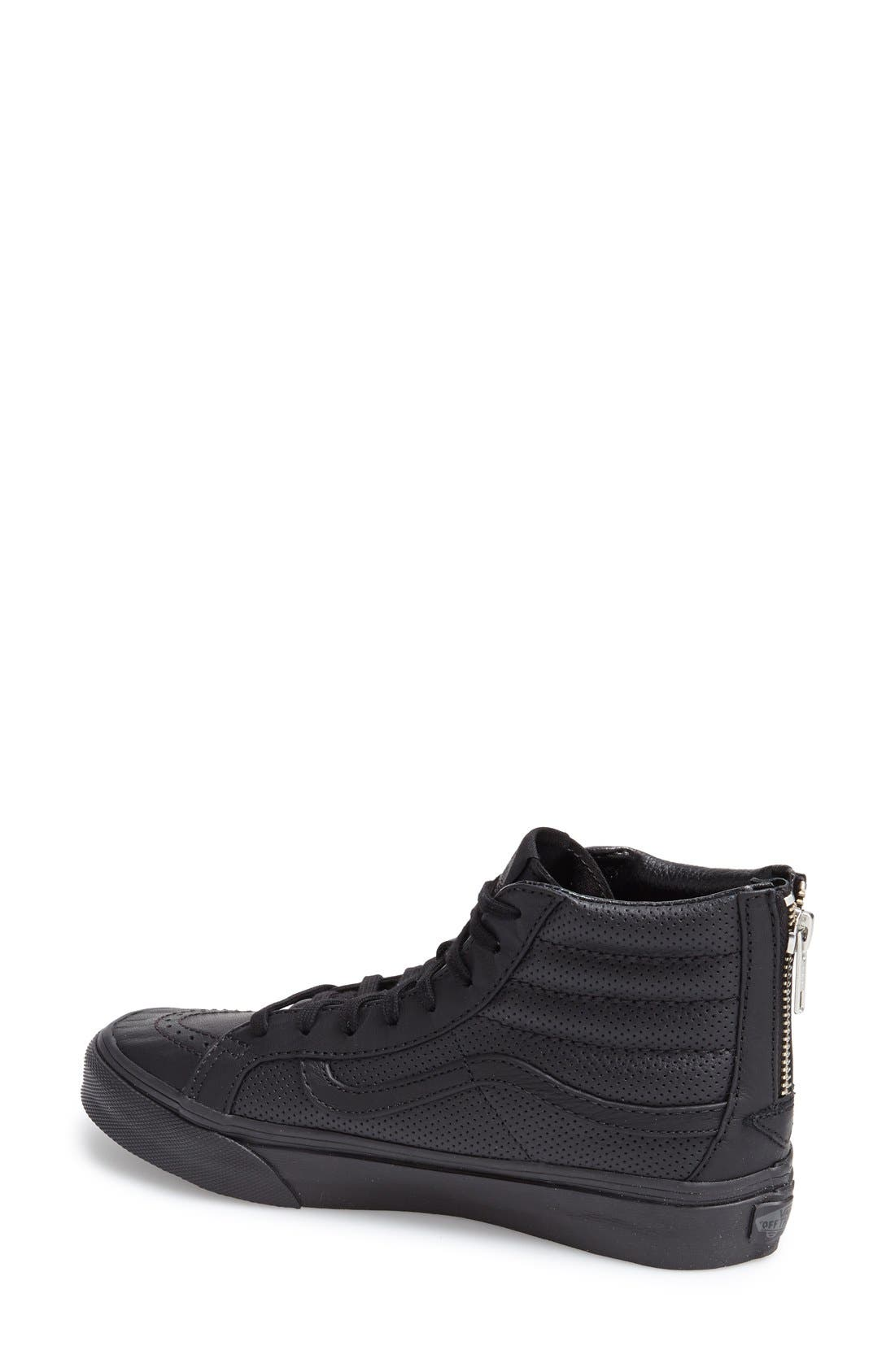 'Sk8-Hi Slim' Perforated Sneaker,                             Alternate thumbnail 3, color,