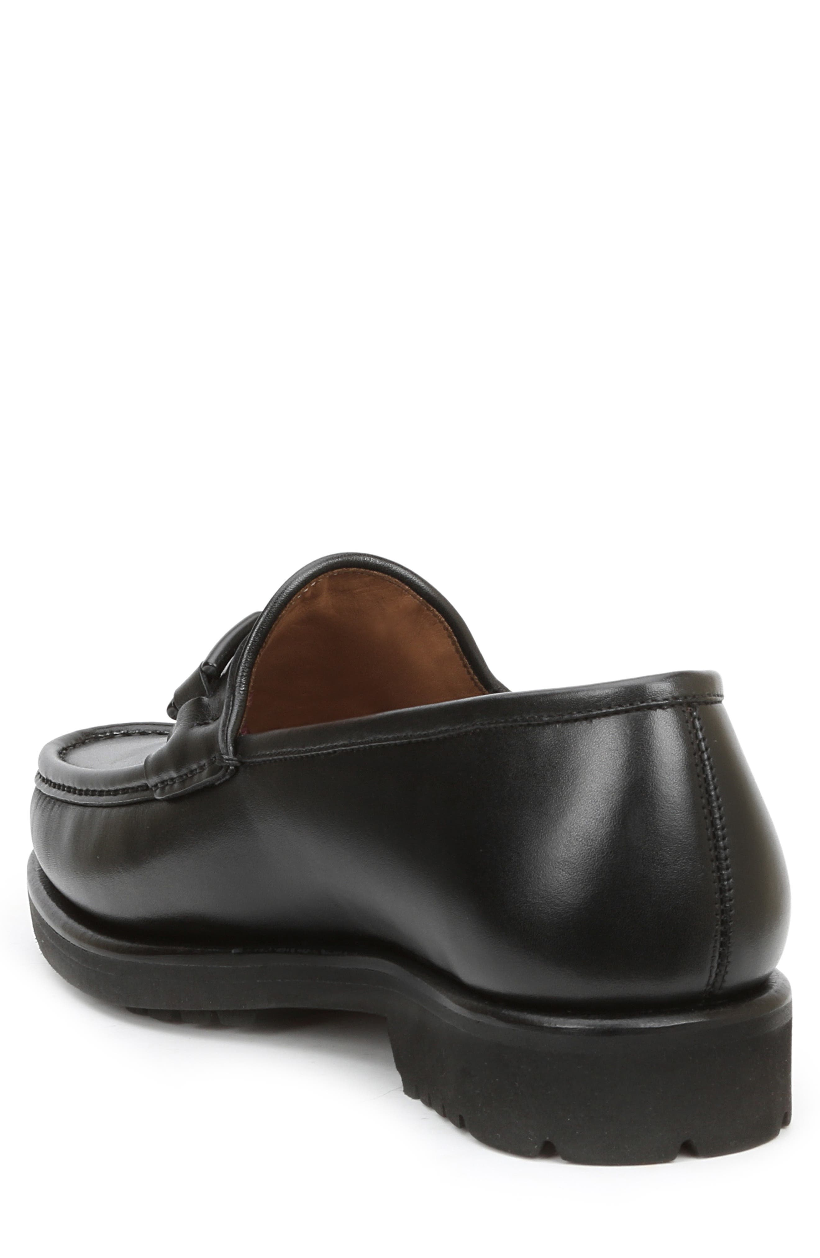 Falcone Lugged Bit Loafer,                             Alternate thumbnail 2, color,                             BLACK