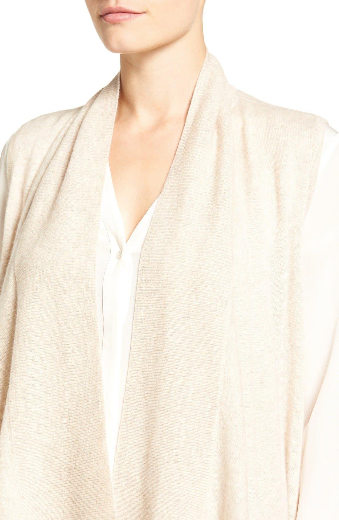 Wool & Cashmere Drape Front Sweater Vest,                             Alternate thumbnail 30, color,